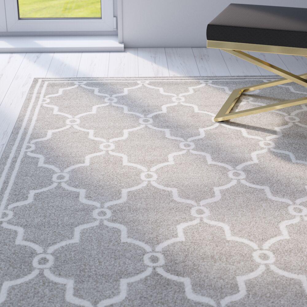 Wason Geometric Dark Gray/Beige Indoor/Outdoor Area Rug Rug Size: Rectangle 2'6