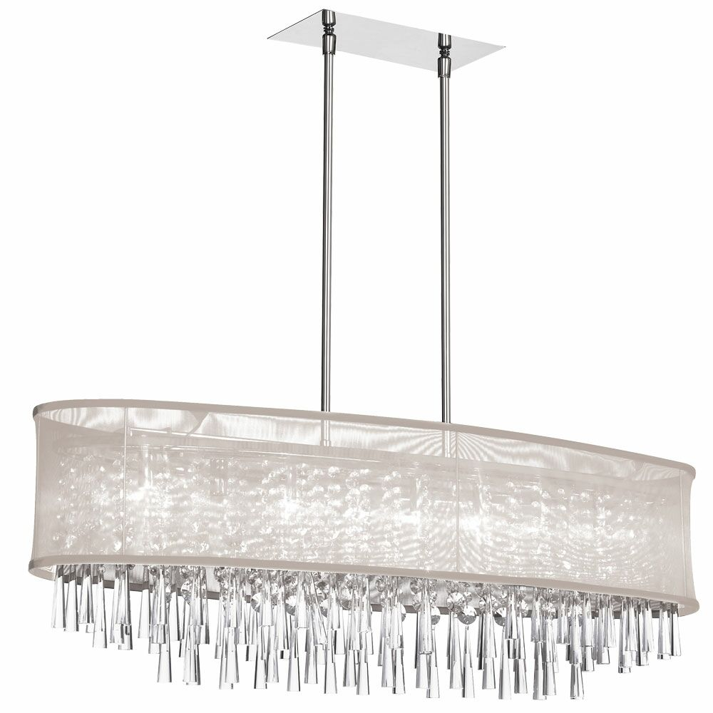 Deverel 8-Light Metal Kitchen Island Pendant Shade Color: Oyster Organza