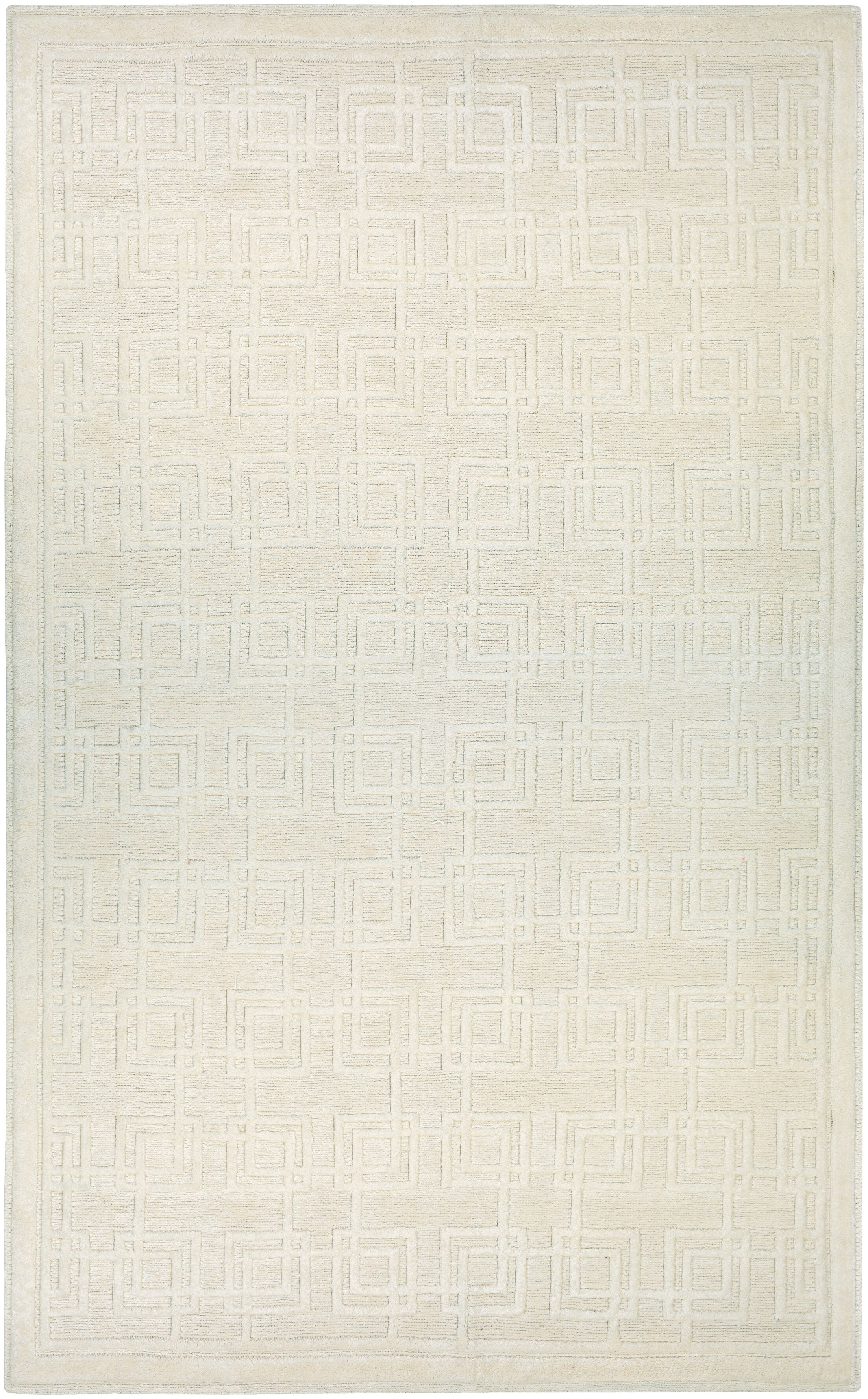 Bridlington Hand-Woven Off White Area Rug Rug Size: Rectangle 5'7