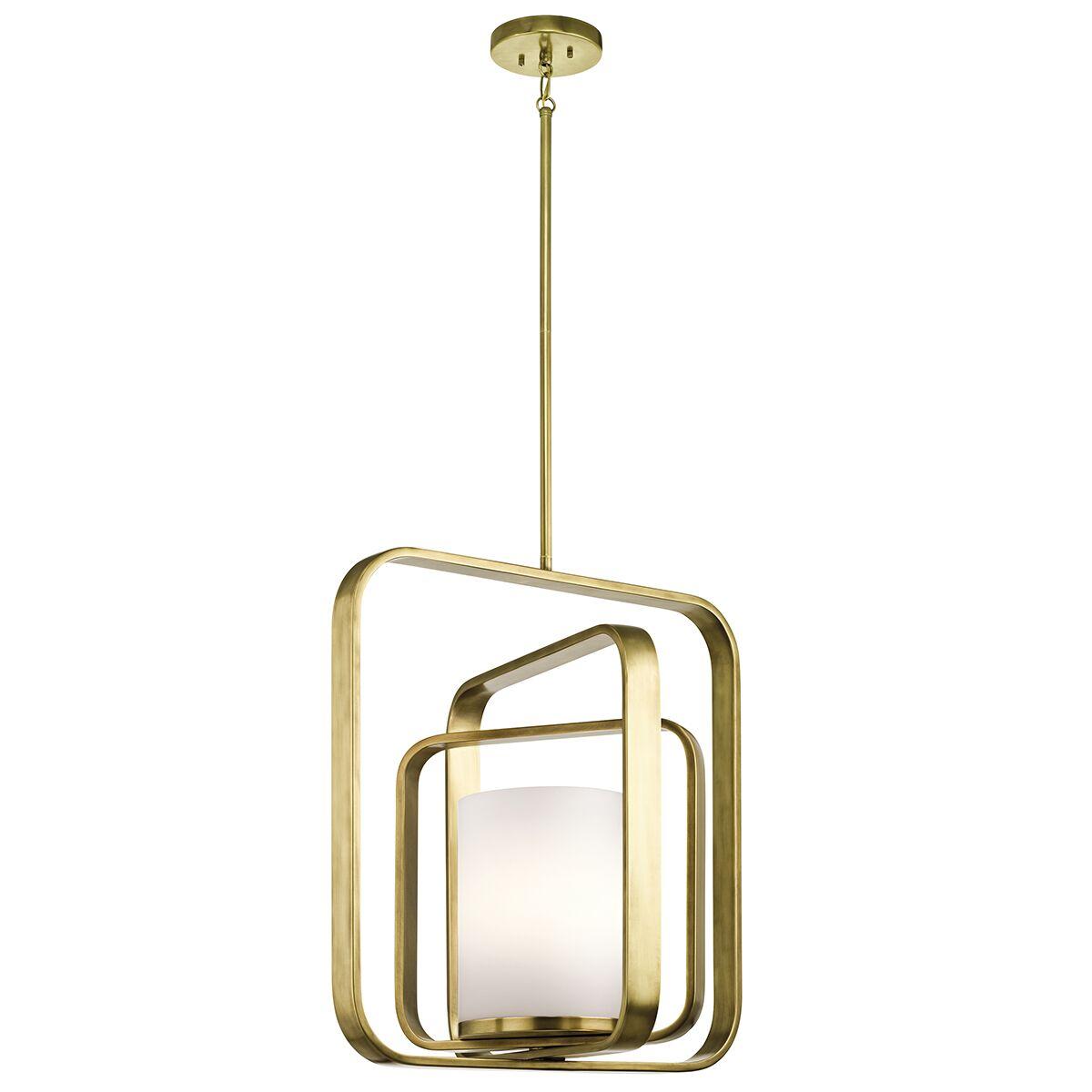 Cheetham 1-Light Geometric Pendant Finish: Natural Brass