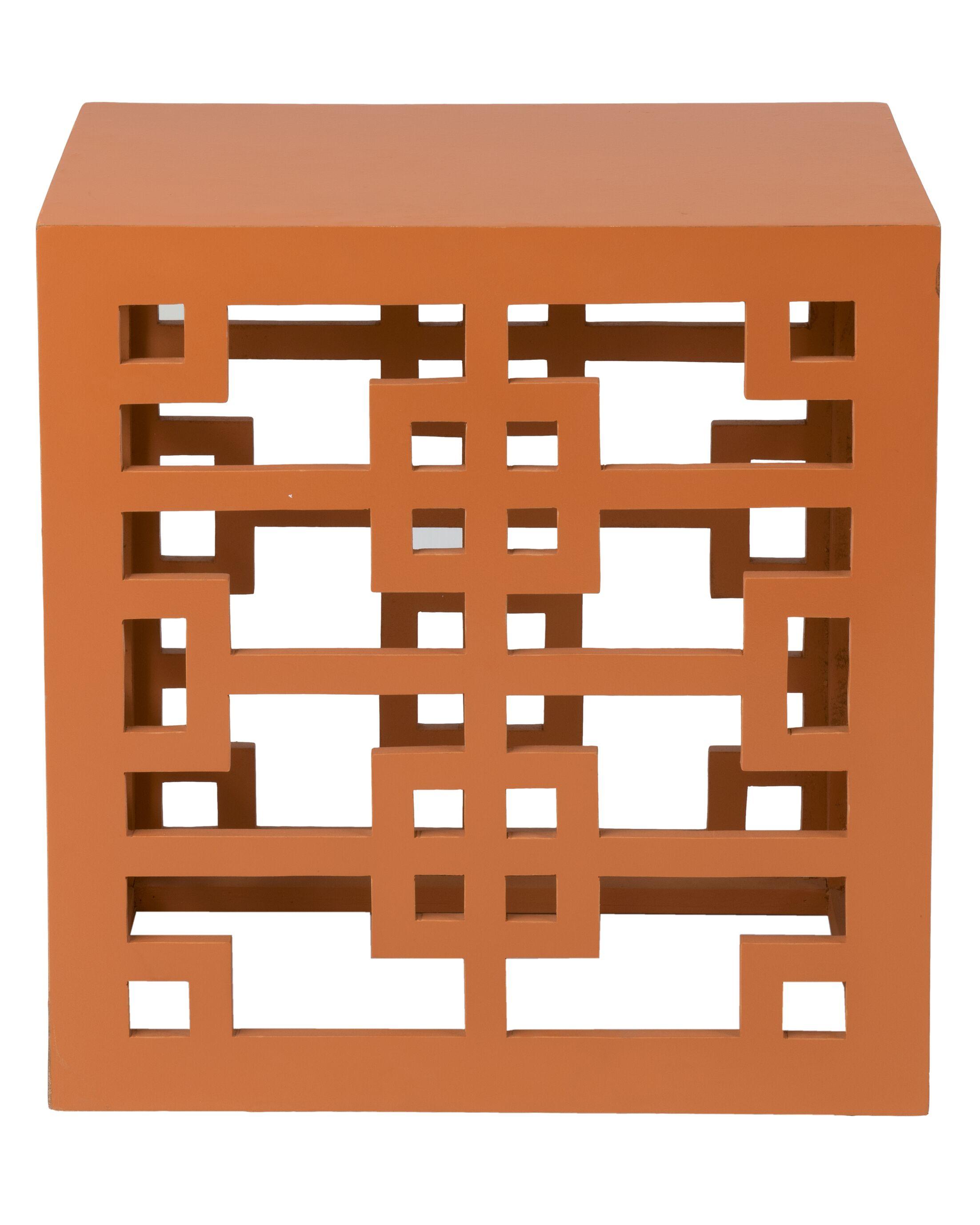 Deverell End Table Color: Orange