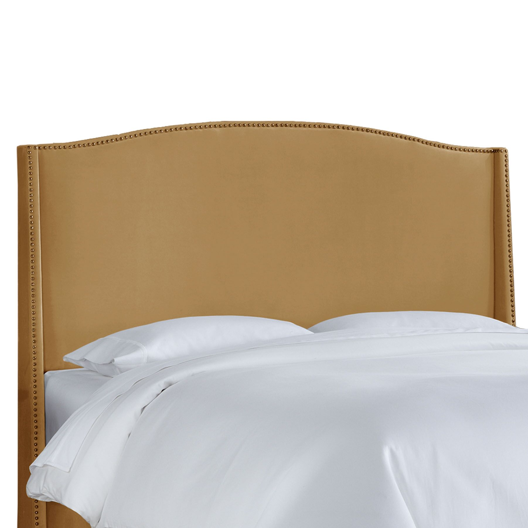 Doleman Contemporary Upholstered Wingback Headboard Size: Full, Upholstery: Honey