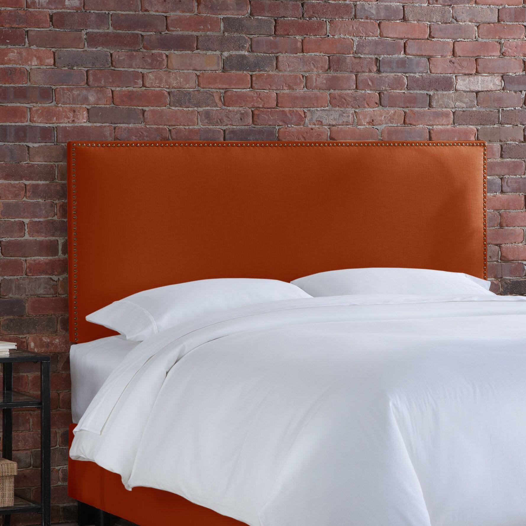 Doleman Upholstered Panel Headboard Upholstery: Tangerine, Size: Full