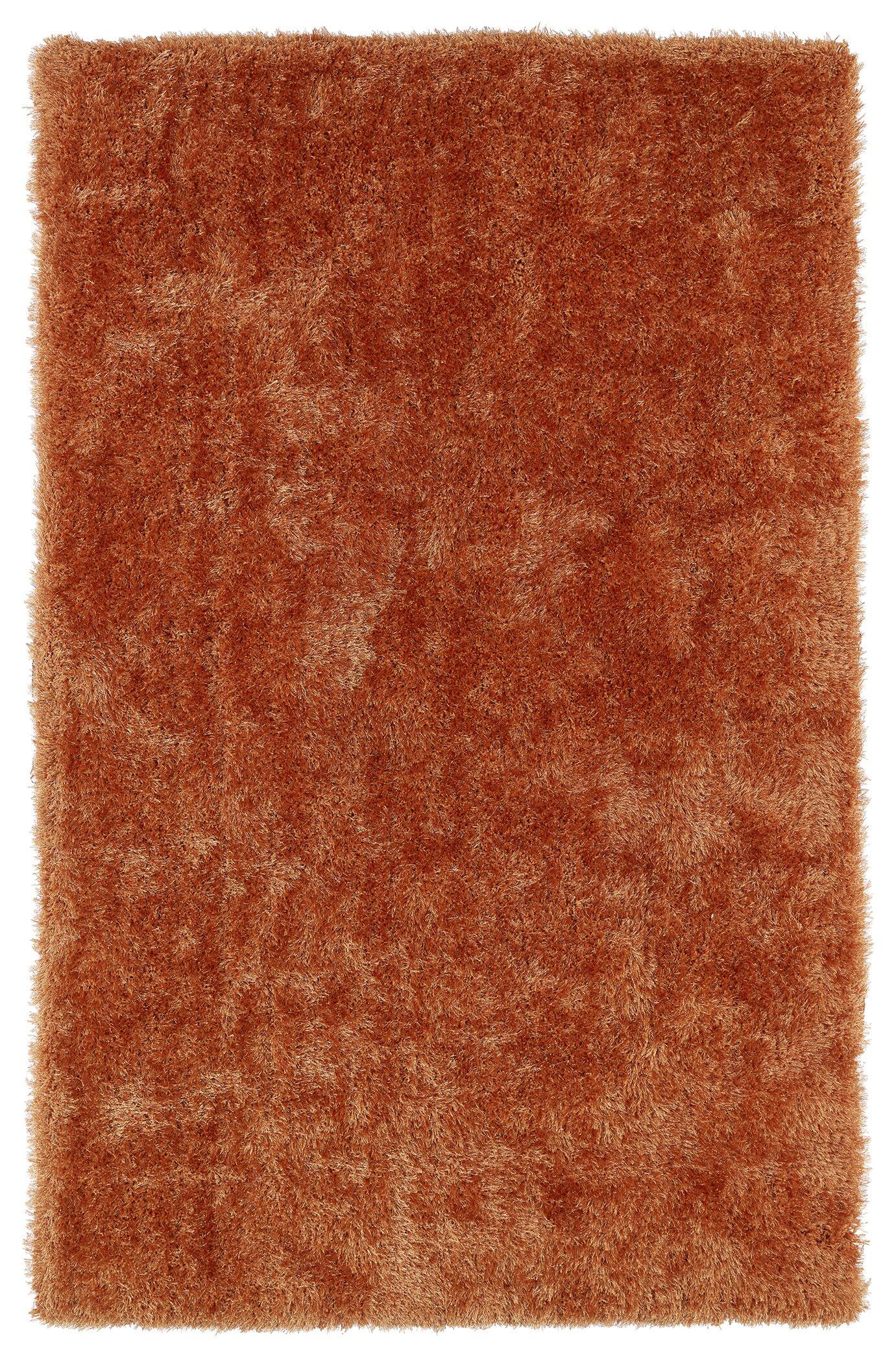 Caine Orange Area Rug Rug Size: Rectangle 8' x 10'