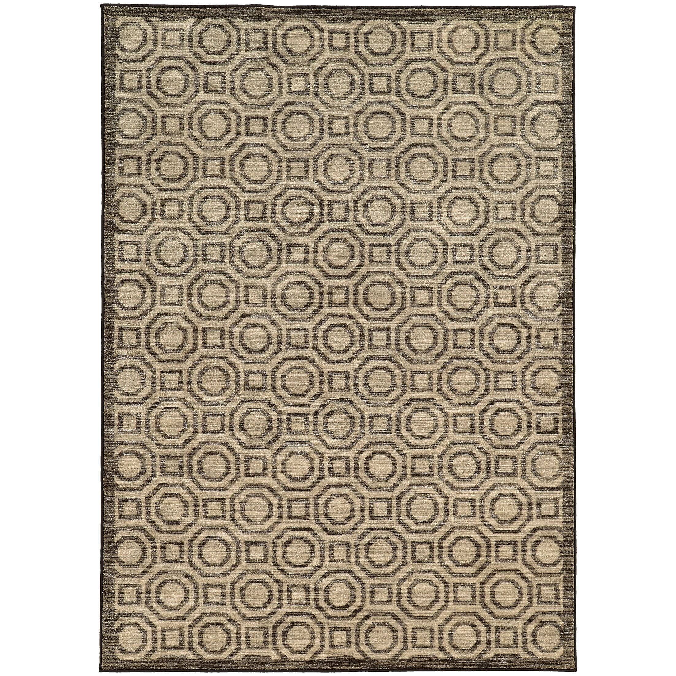 Abbas Geometric Charcoal/Grey Area Rug Rug Size: Rectangle 6'7