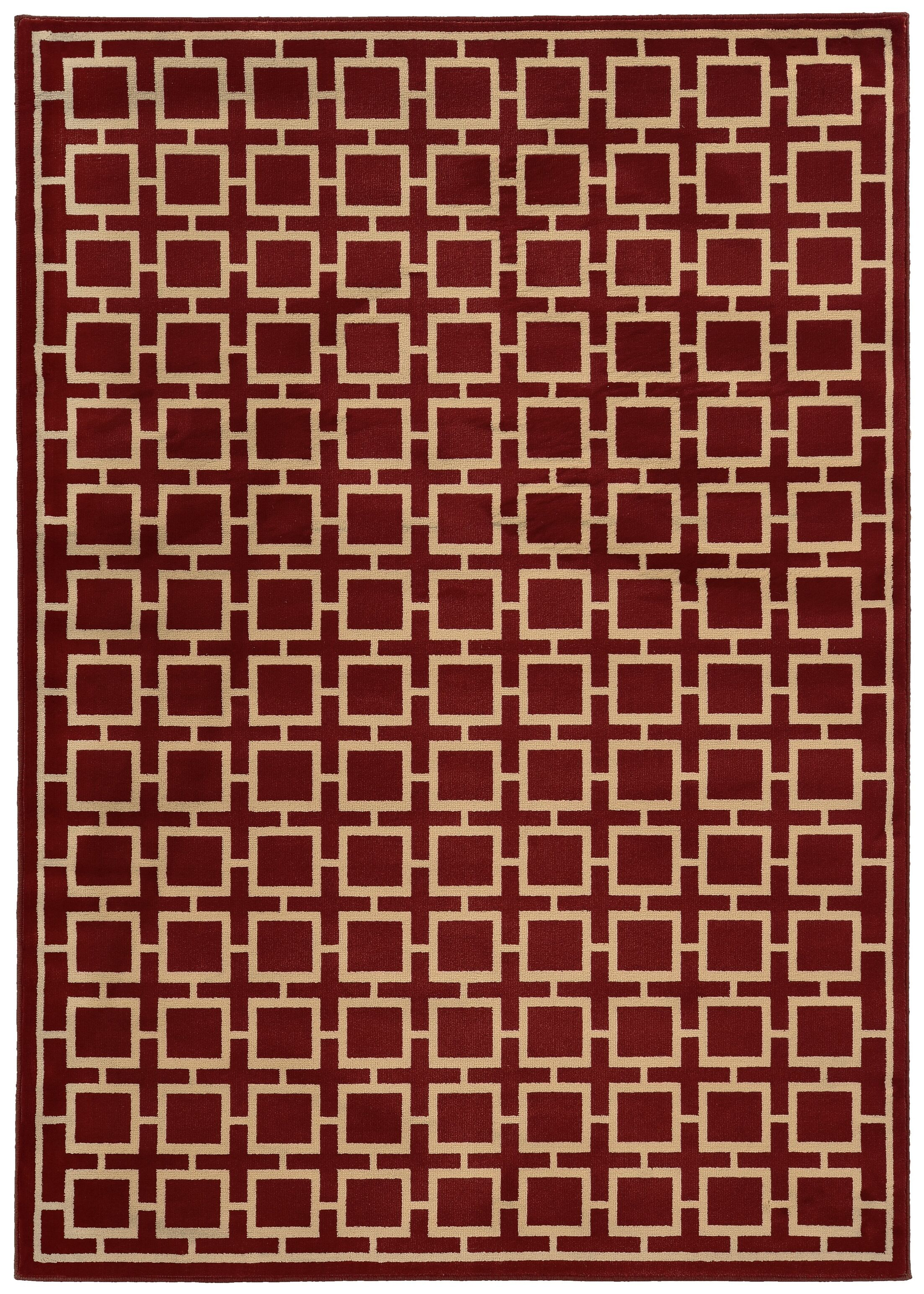 Reiter Red/Beige Area Rug Rug Size: Rectangle 6'7