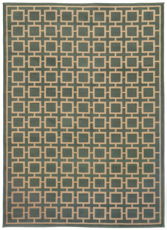 Reiter Blue/Beige Area Rug Rug Size: Rectangle 6'7