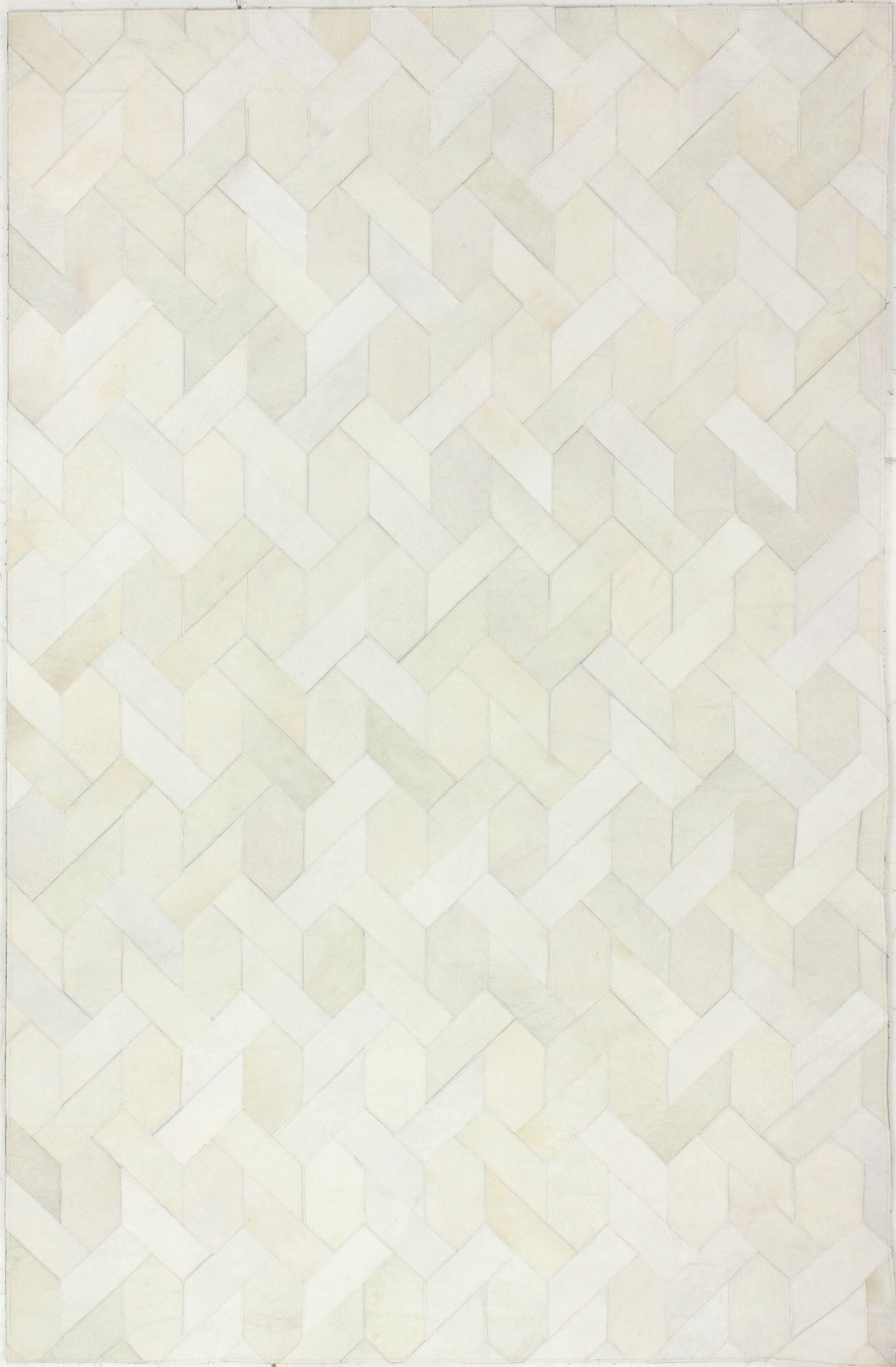 Heath Hand-Woven White Area Rug Rug Size: 8' x 10'