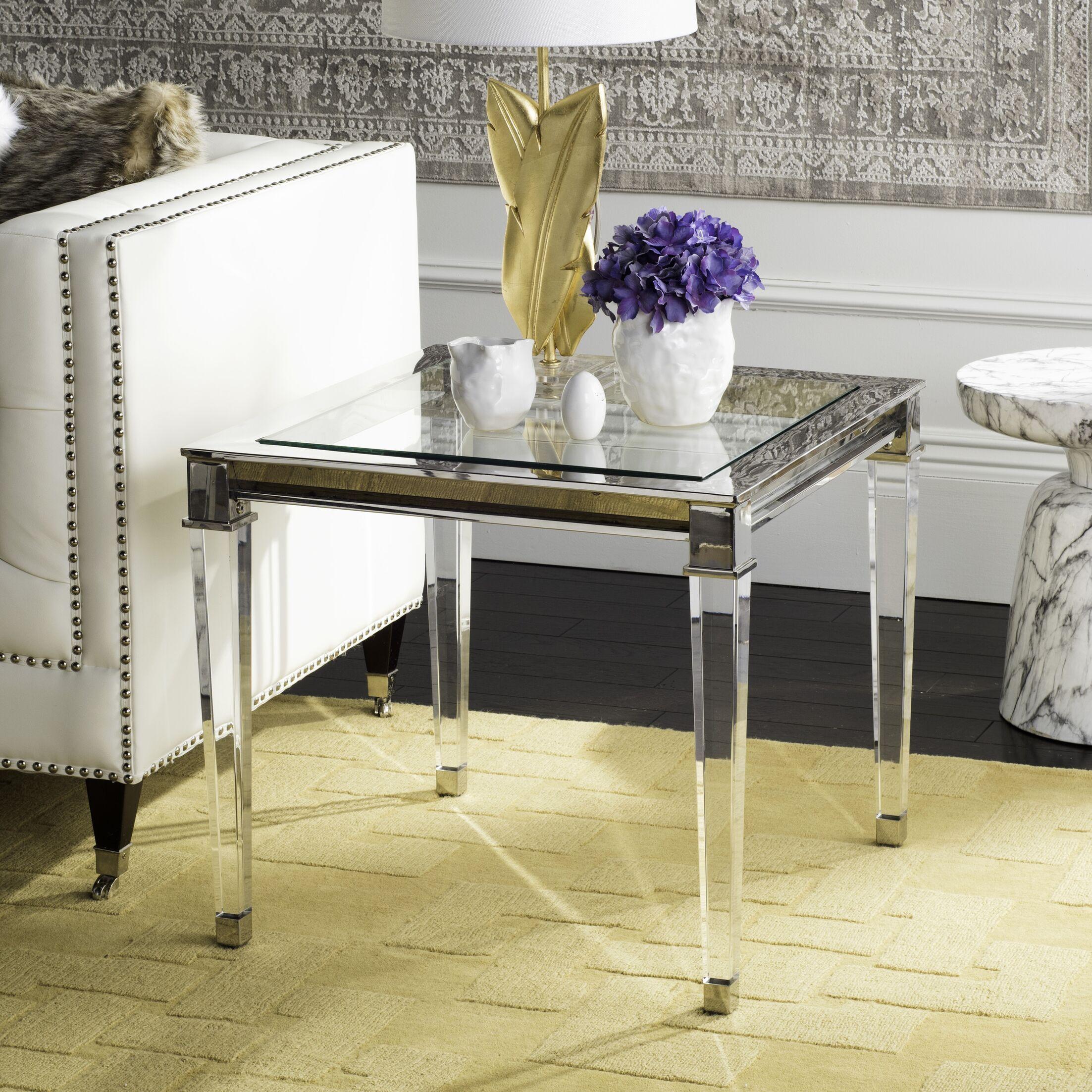 Florrie End Table Color: Silver