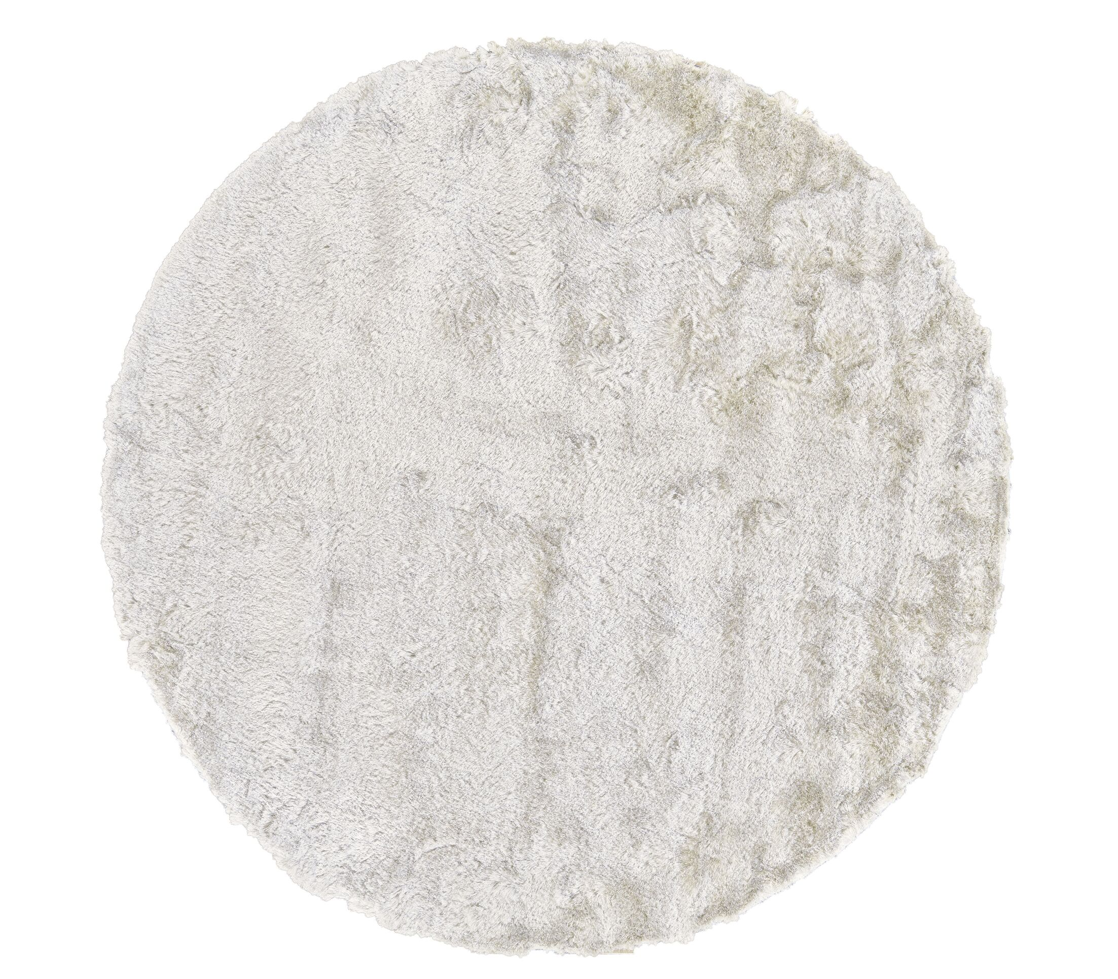 Danae Hand-Tufted White Area Rug Rug Size: Round 8'