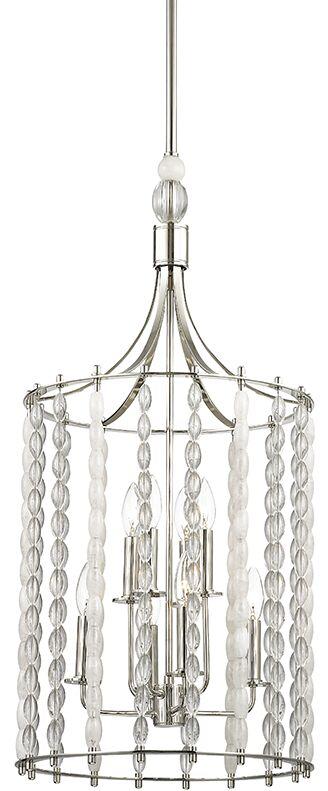 Reardon 8-Light Lantern Pendant Finish: Polished Nickel