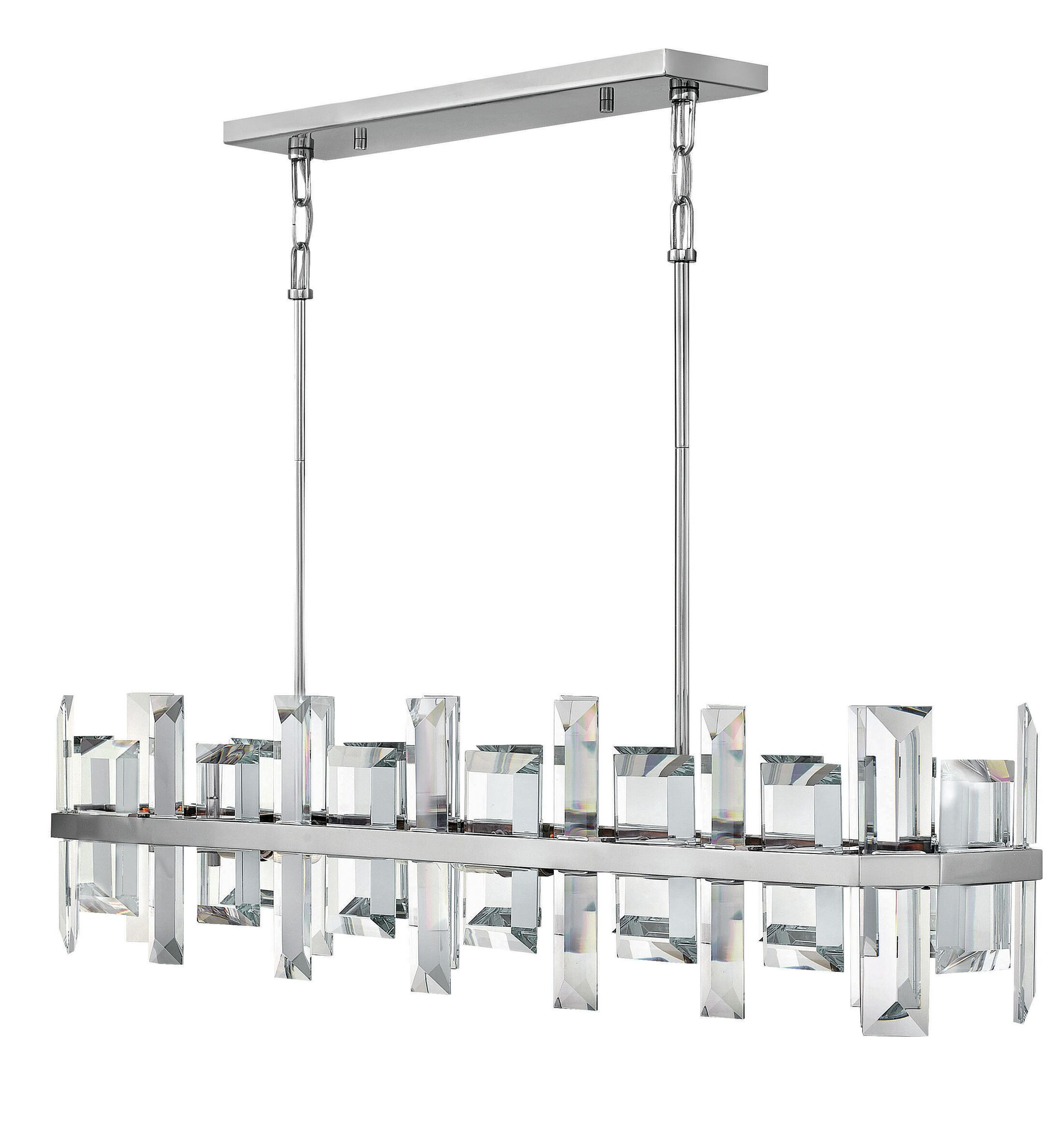 Odette 8 Light Kitchen Island Pendant Finish: Polished Nickel