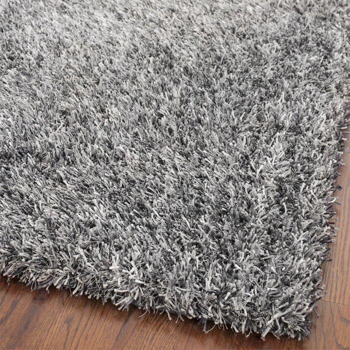 Kater Platinum/Ivory Area Rug Rug Size: Rectangle 8'6