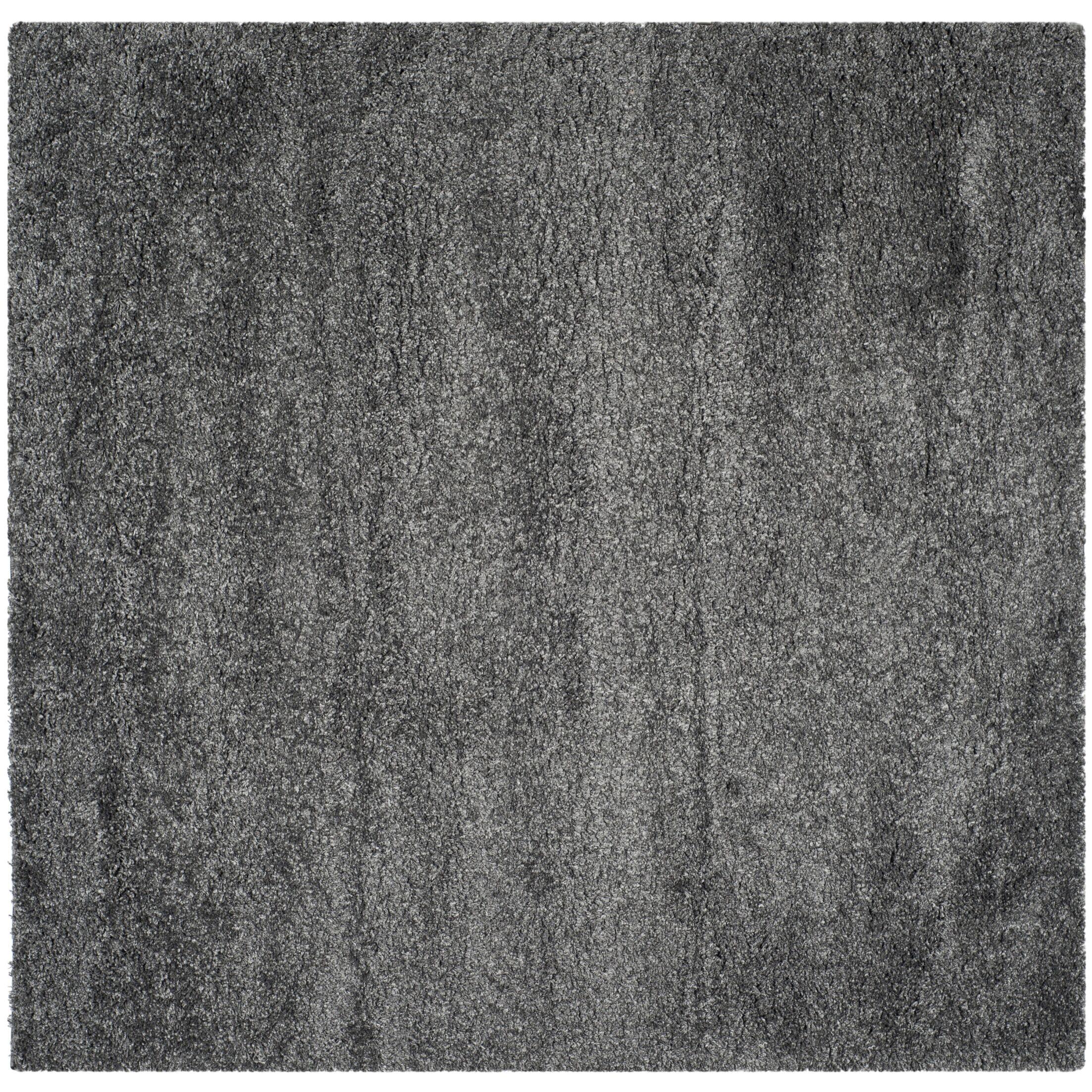 Maya Handmade Dark Gray Area Rug Rug Size: Square 8'6