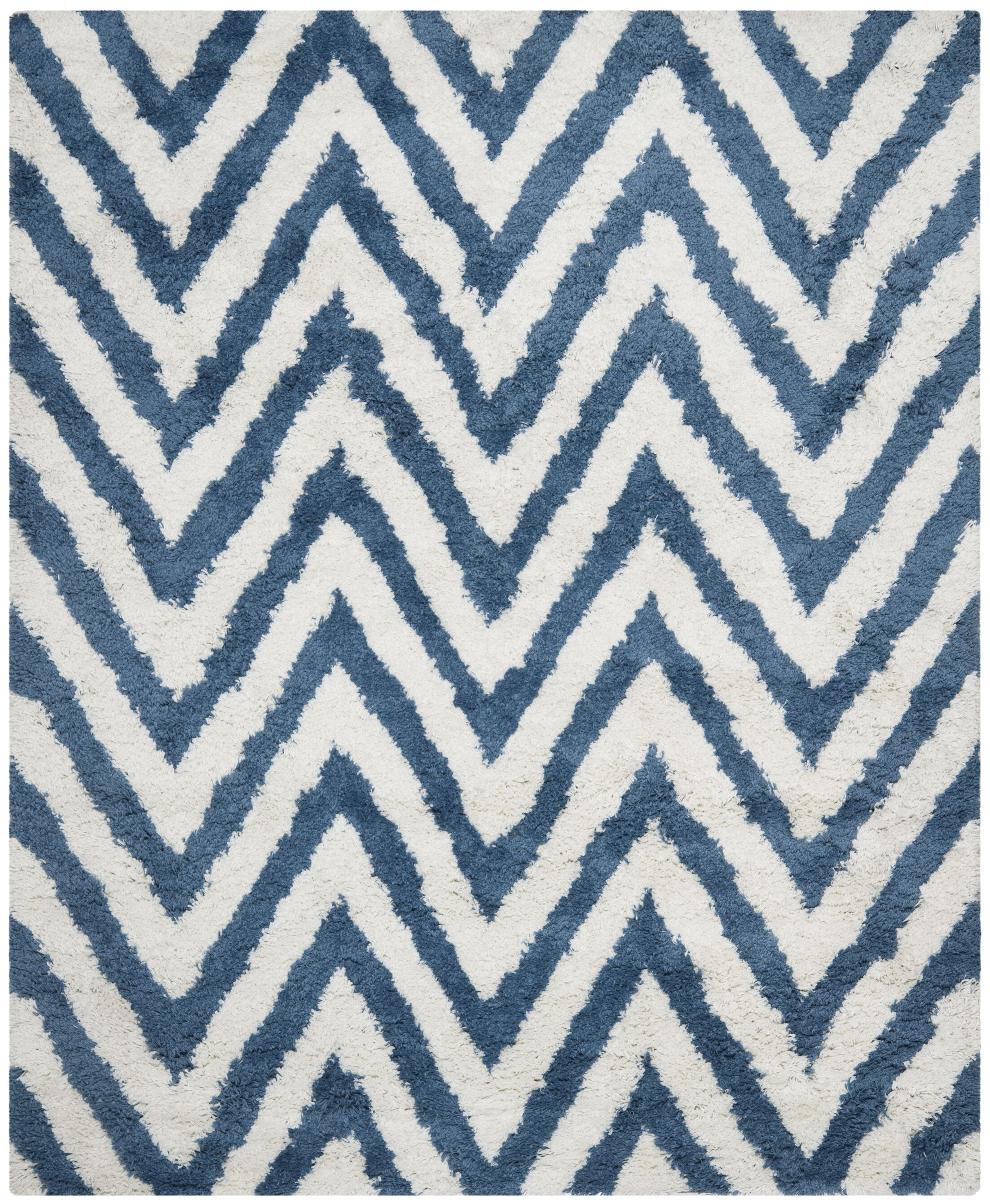 Davey Ivory/Blue Area Rug Rug Size: Square 5'