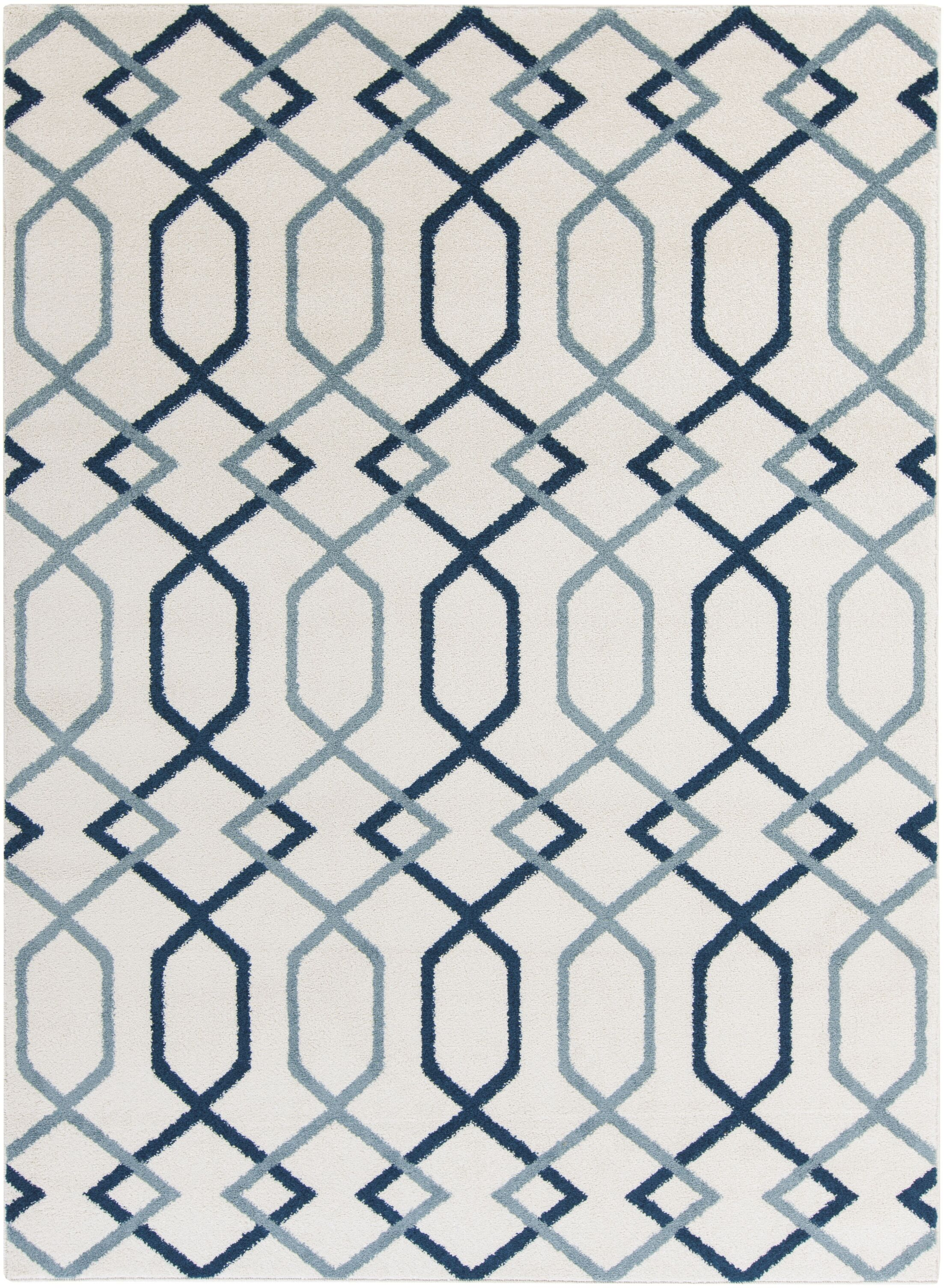 Siclen Blue Area Rug Rug Size: Rectangle 5'3