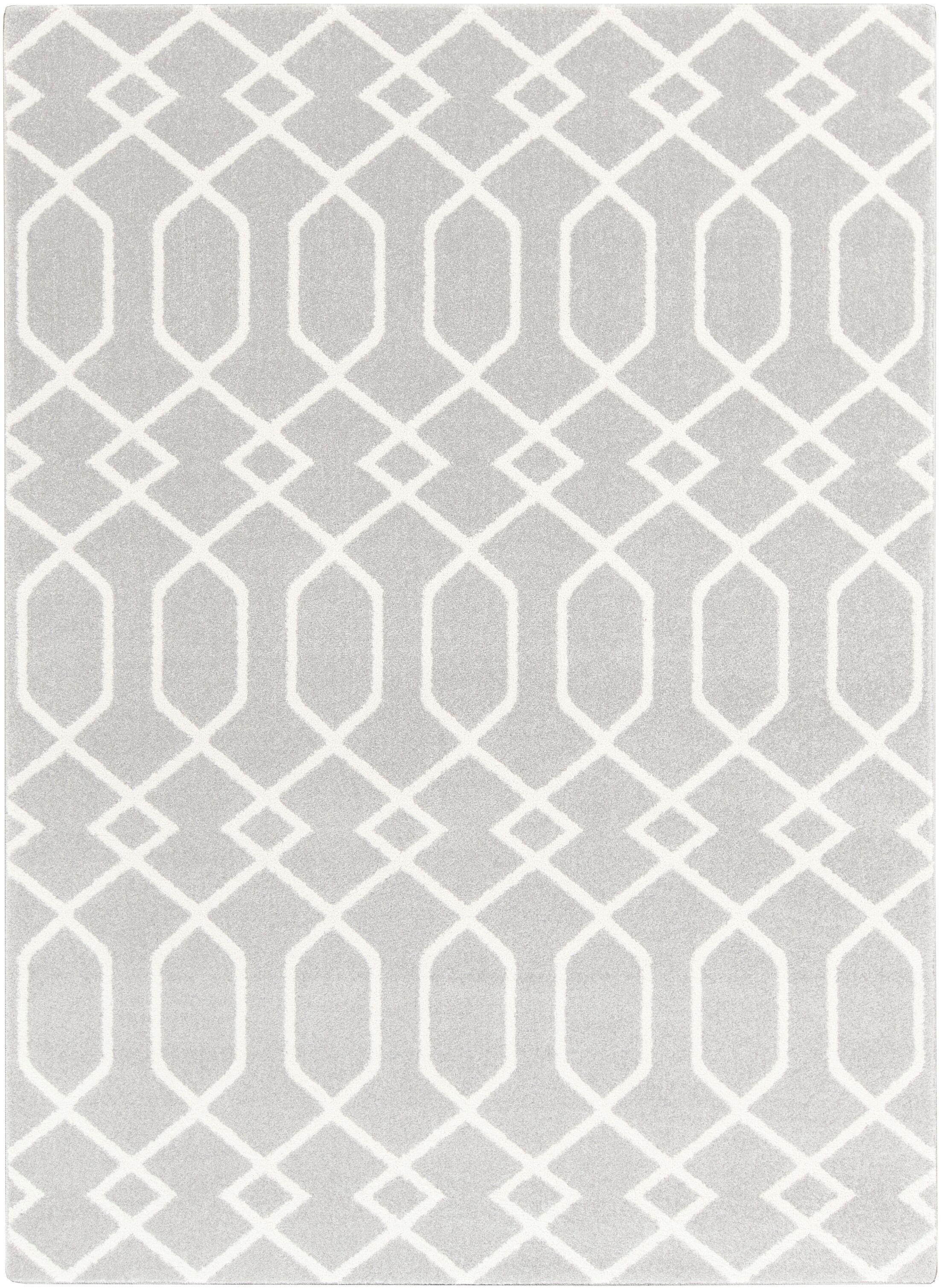Siclen Gray/Ivory Area Rug Rug Size: Rectangle 7'10