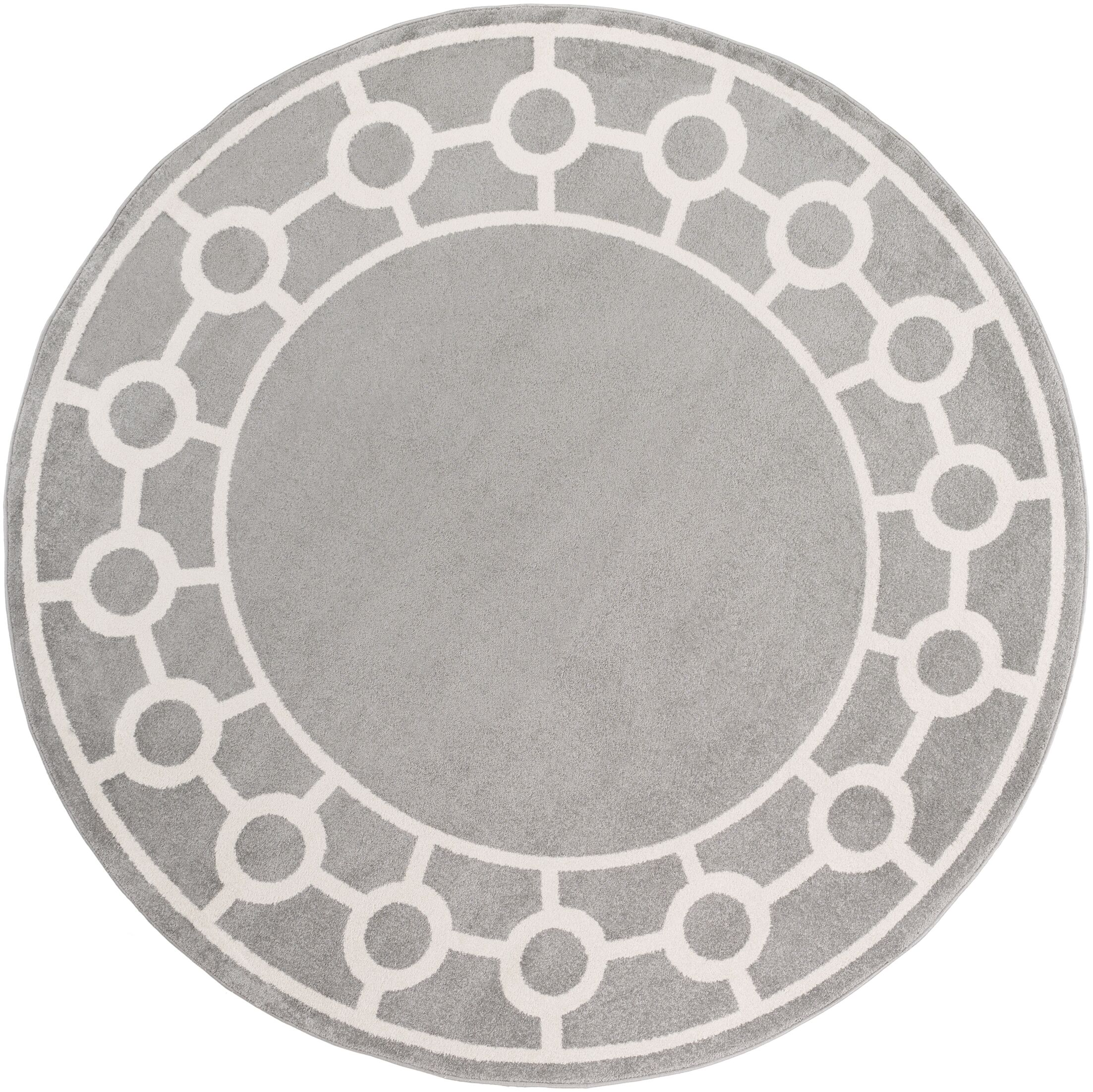 Siclen Gray Area Rug Rug Size: Round 7'10