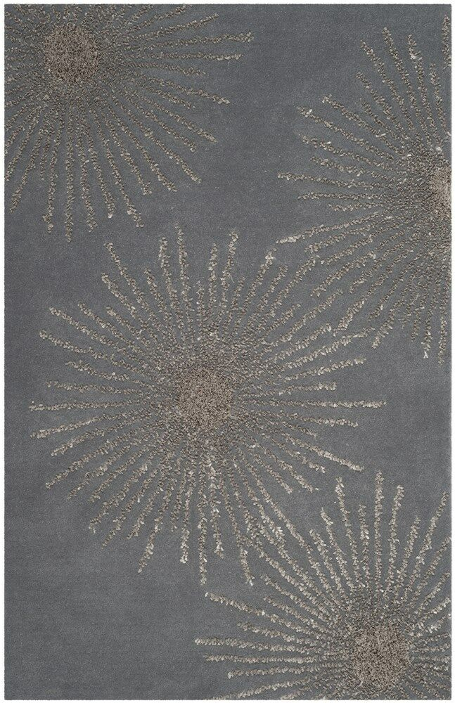 Beaufays Hand-Tufted Dark Gray/Silver Area Rug Rug Size: Rectangle 6' x 9'