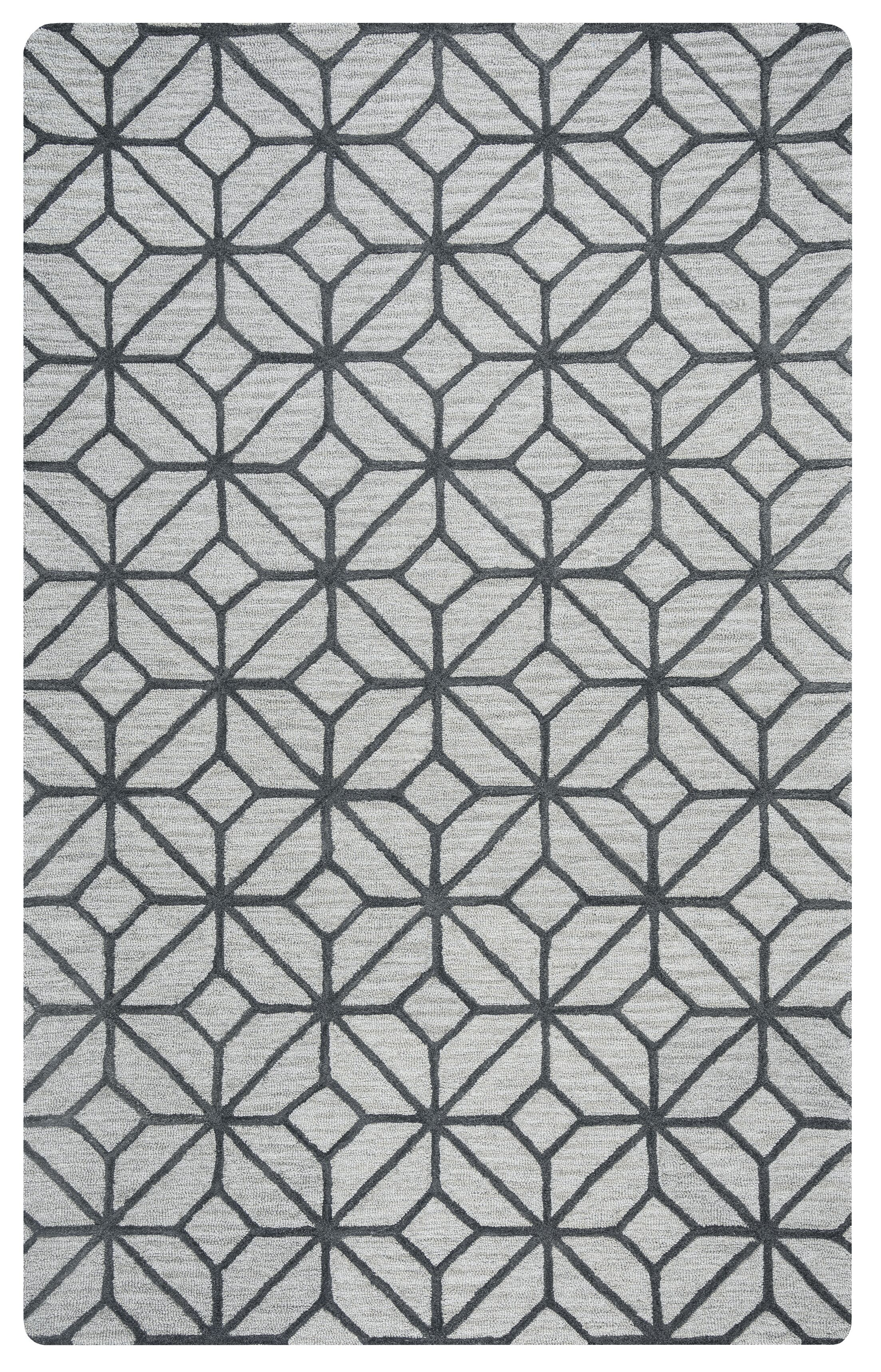 Wright Hand-Tufted Gray Area Rug Rug Size: Rectangle 8' x 10'