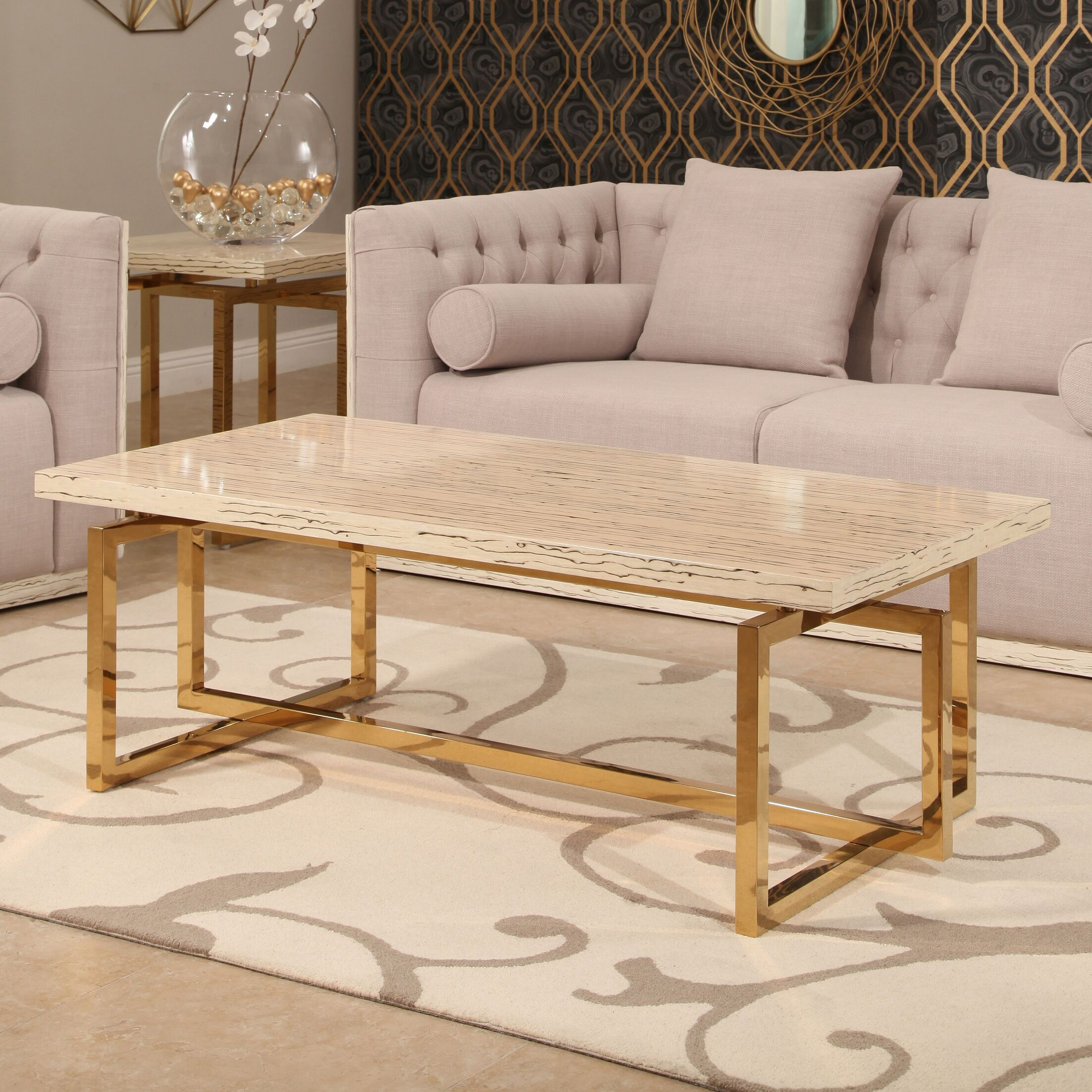 Lefkowitz Stainless Steel Coffee Table