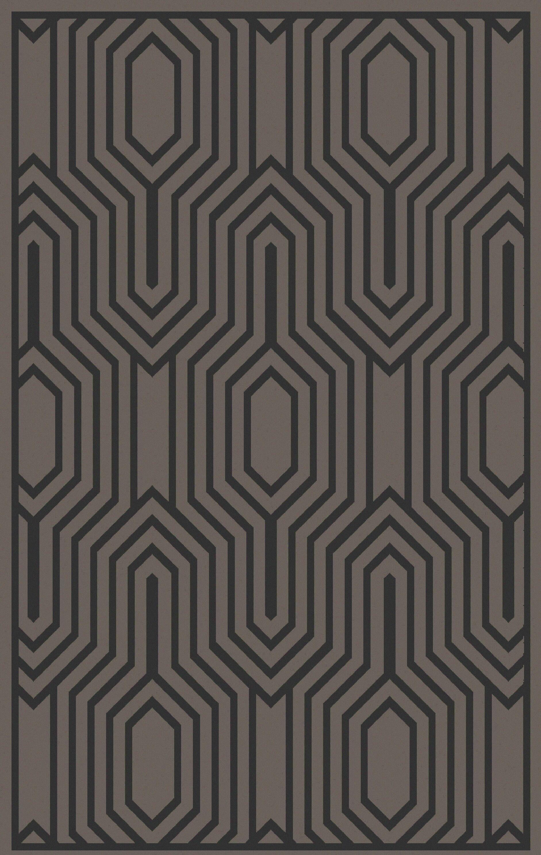 Sula Charcoal Area Rug Rug Size: Rectangle 5' x 8'