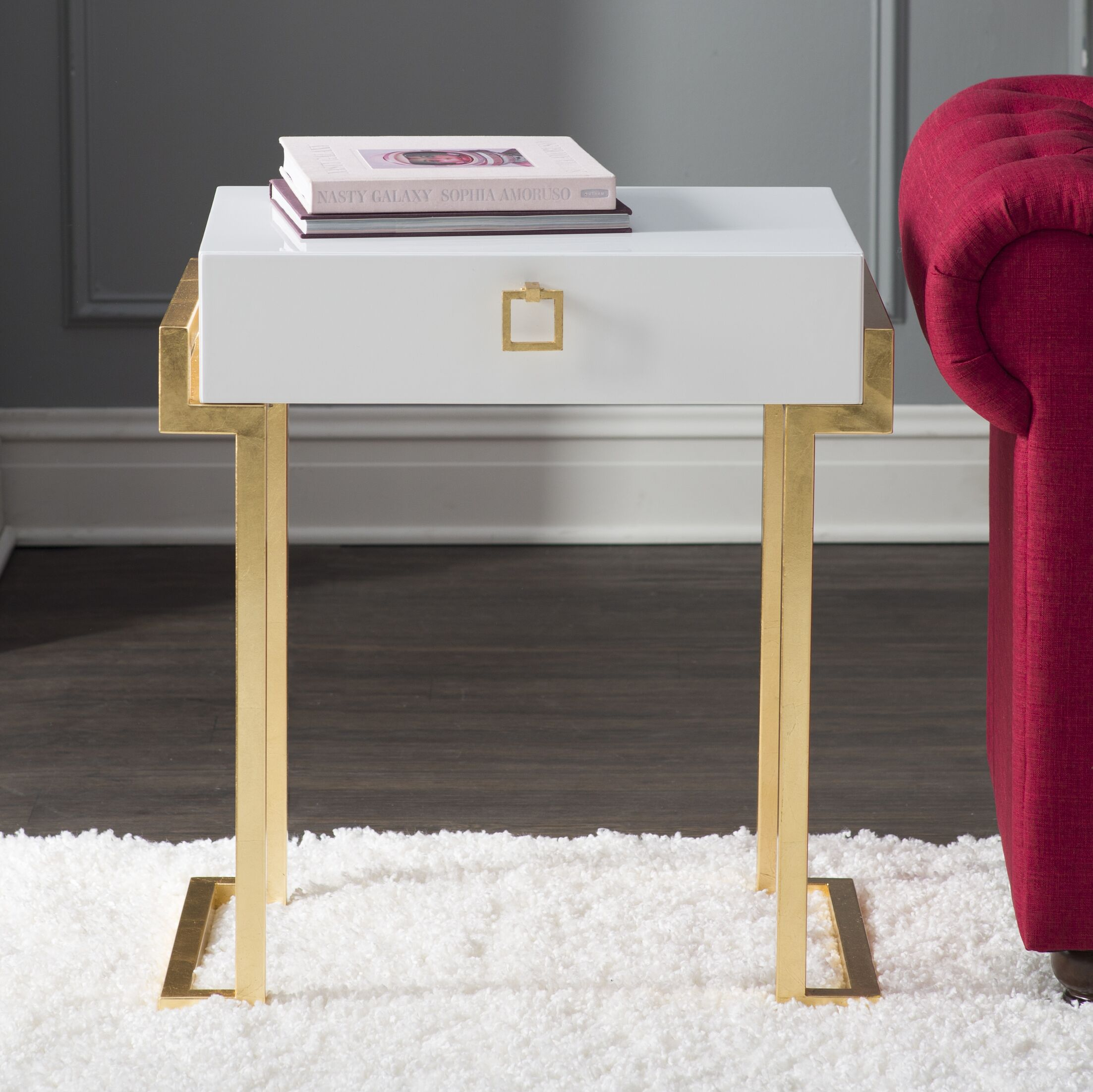 Beachmere End Table Color: White Lacquer