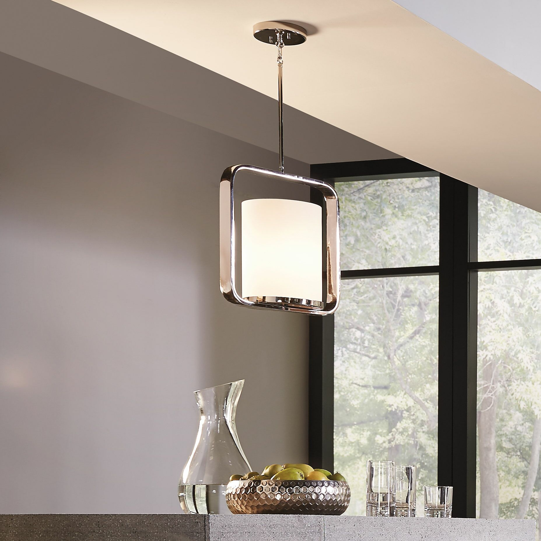 Cheetham 1-Light Pendant Finish: Polished Nickel