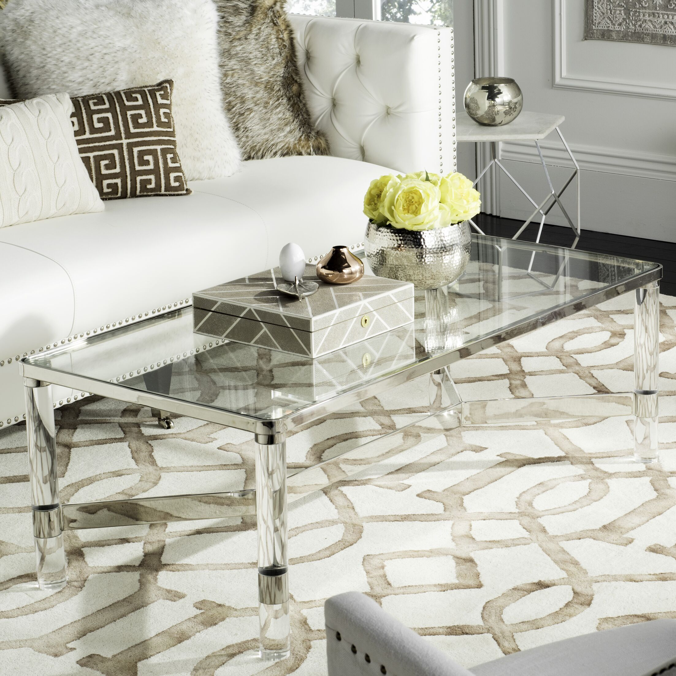 Berkshire Coffee Table Color: Silver