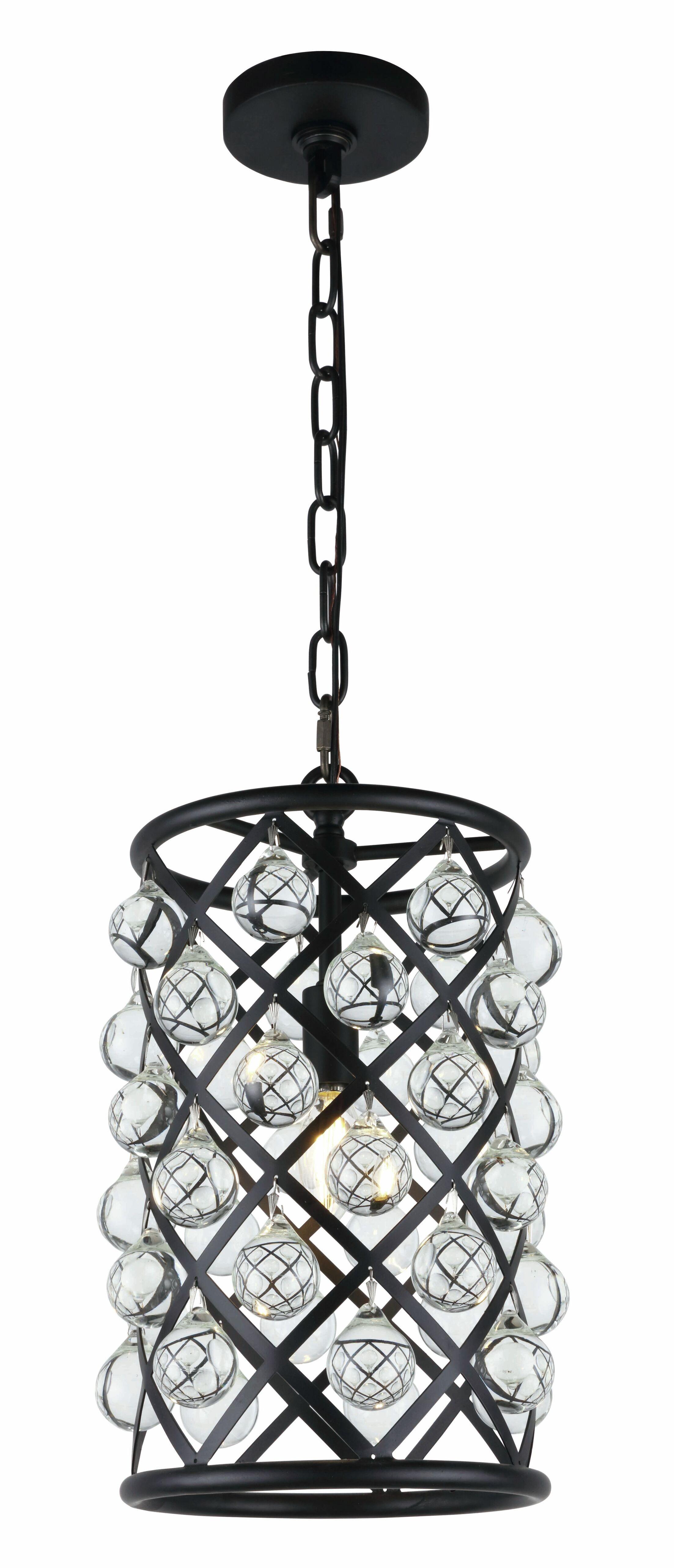 Morion 1-Light LED Cylinder Pendant Finish: Matte Black