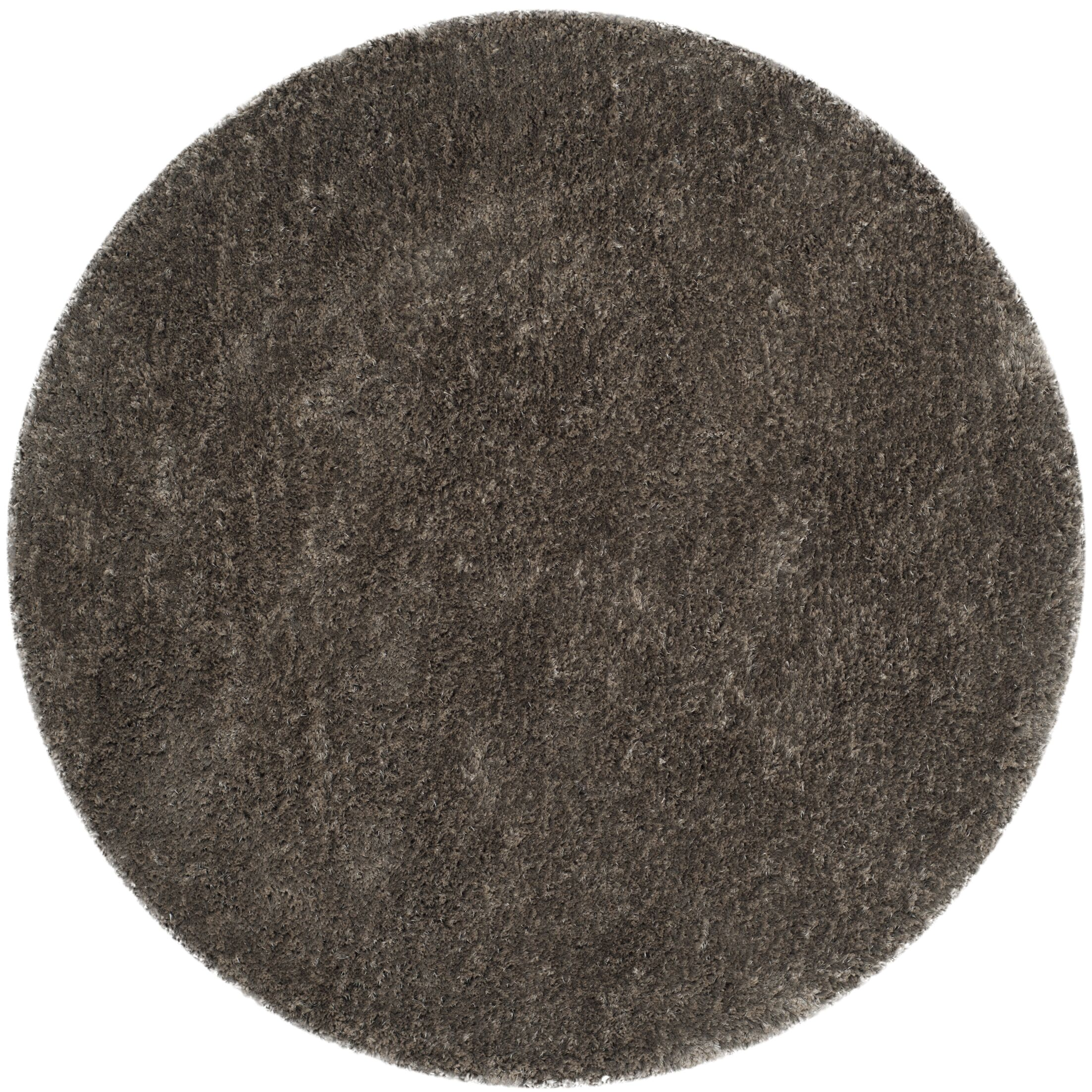 Chapman Hand-Tufted Brown Area Rug Rug Size: Round 5'