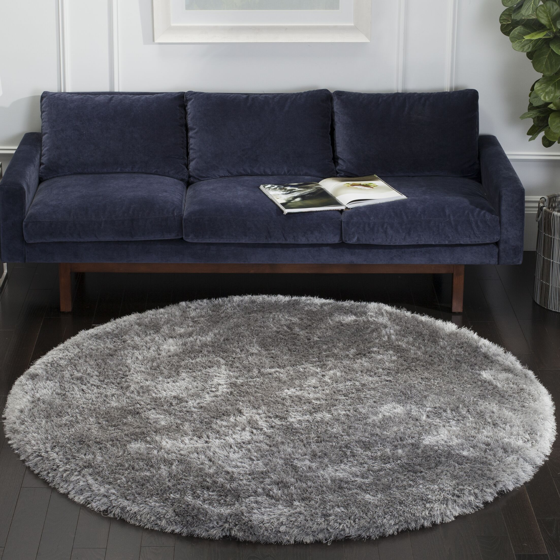 Jayne Hand Tufted Gray Area Rug Rug Size: Rectangle 6' X 9'