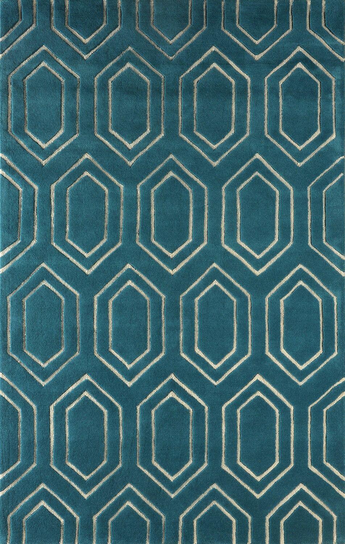 Graceland Hand Tufted Lapis Area Rug Rug Size: Rectangle 4' x 6'