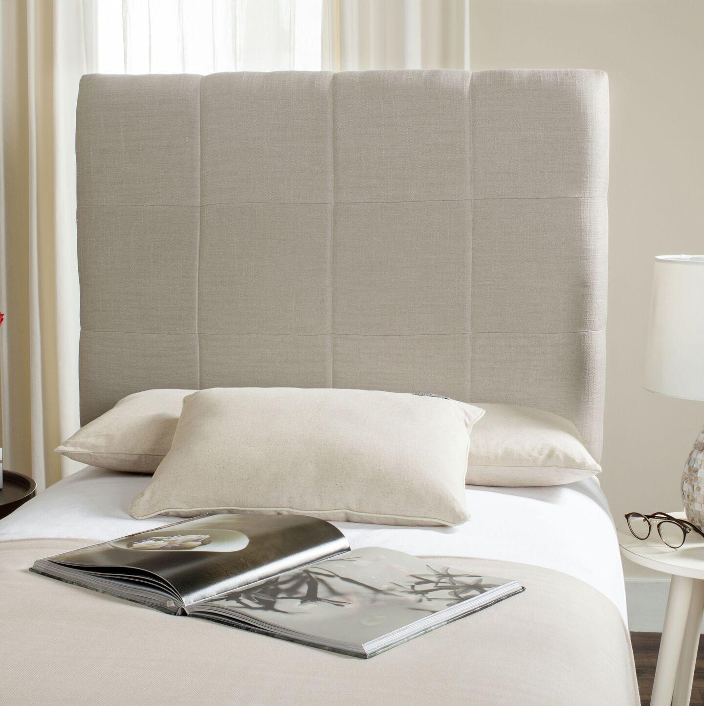 Muni Upholstered Panel Headboard Size: Twin