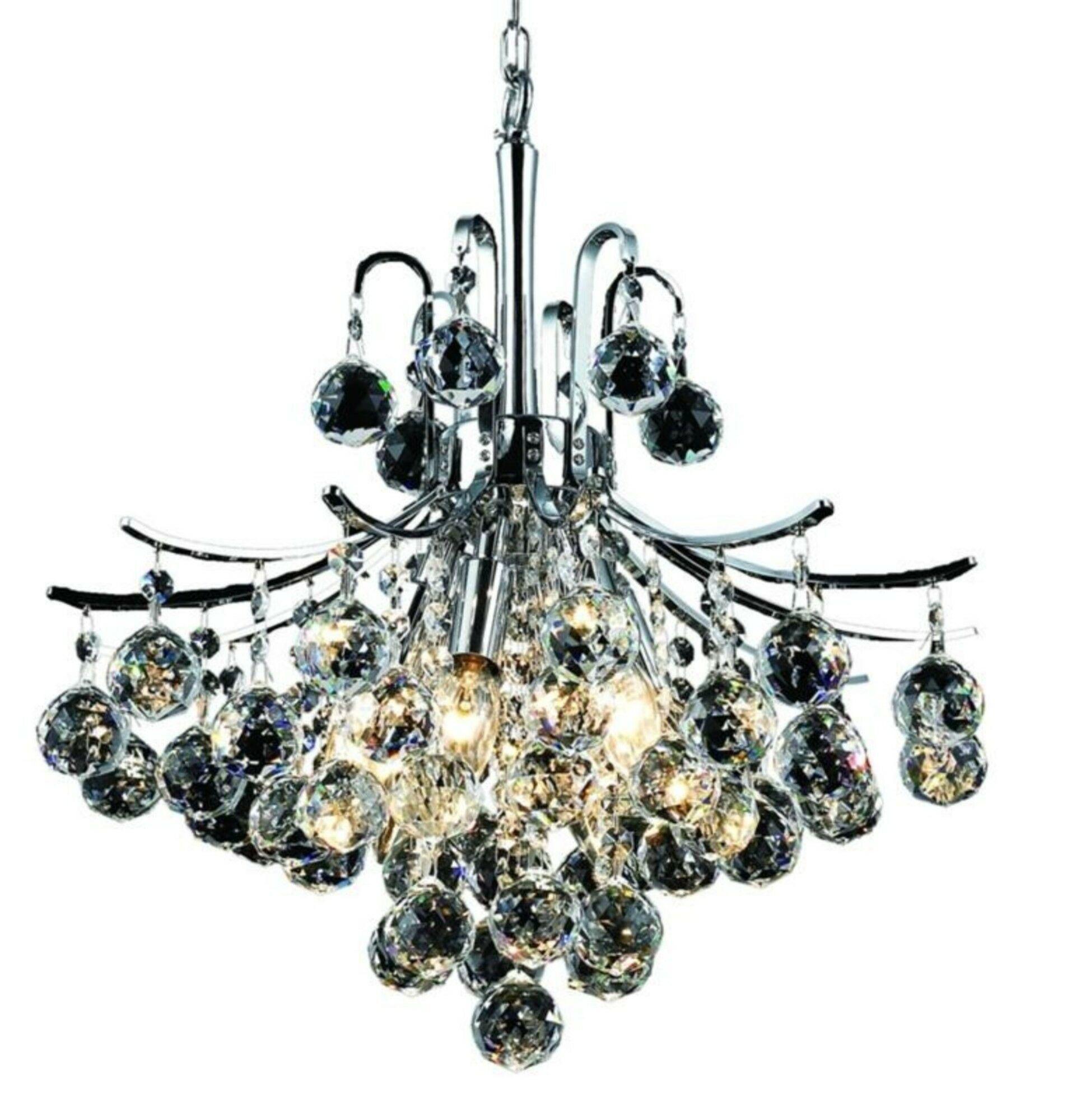 McAllen 6-Light Chandelier Finish: Chrome, Crystal: Spectra Swarovski