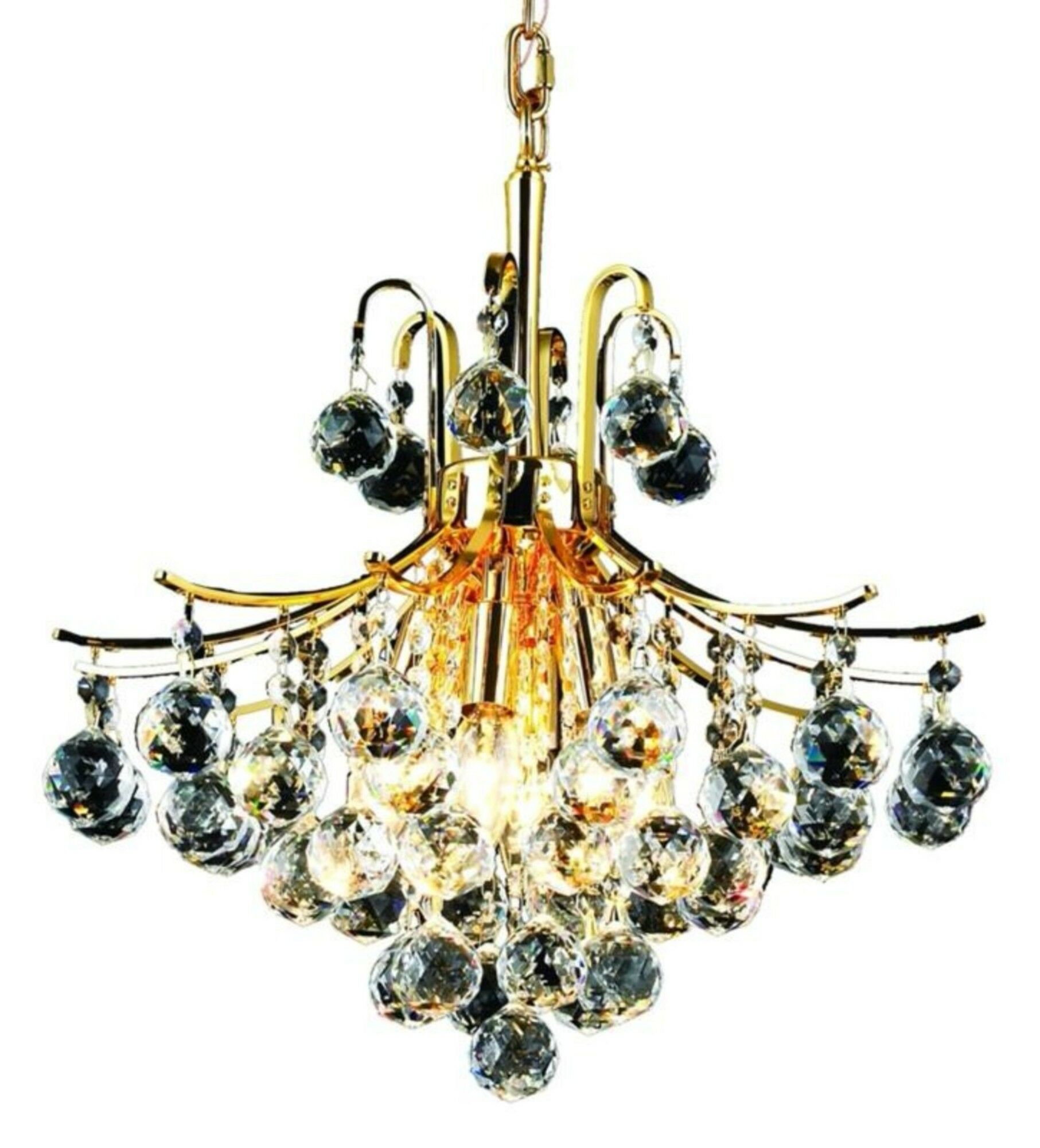 McAllen 6-Light Chandelier Finish: Gold, Crystal: Spectra Swarovski