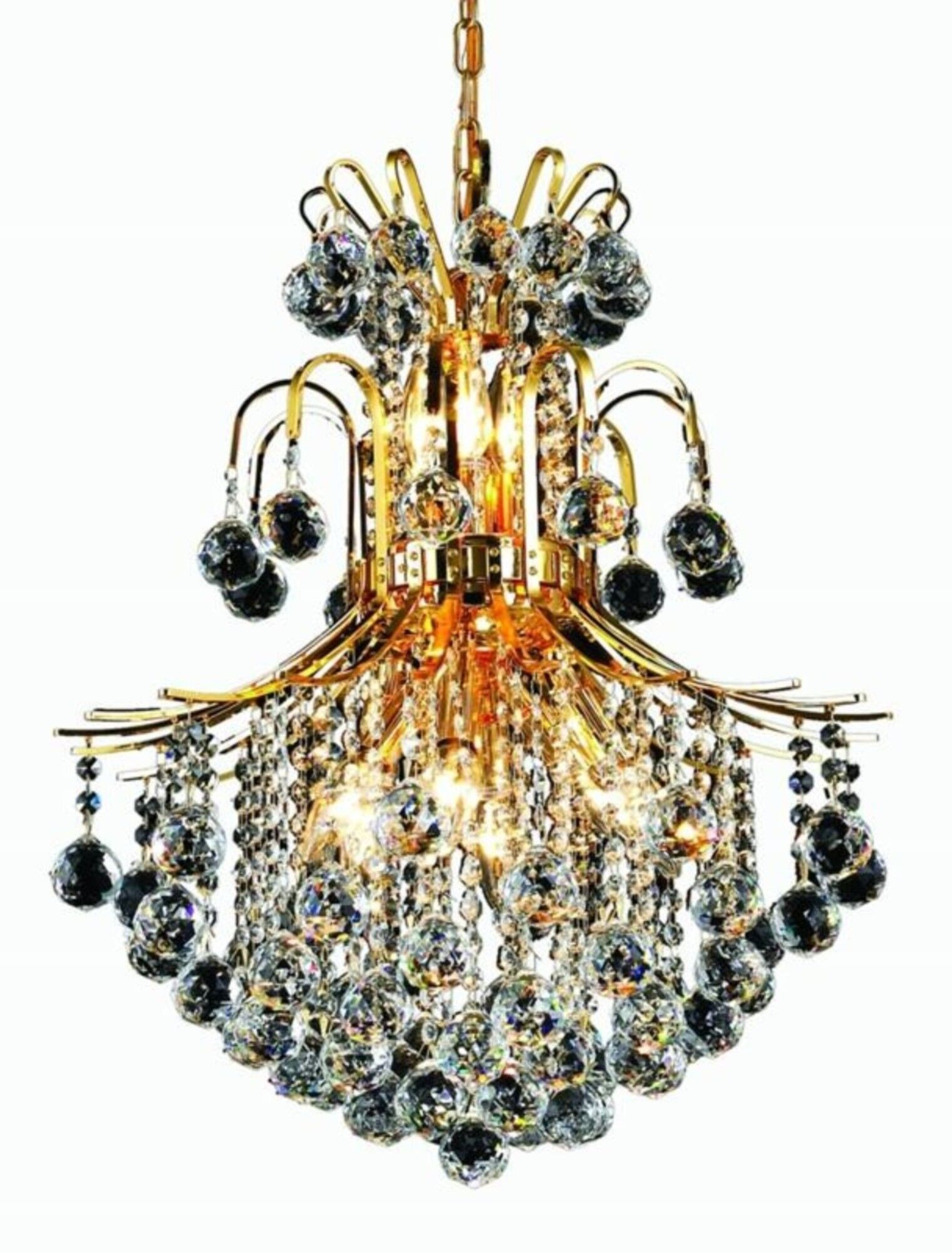 McAllen 11-Light Empire Chandelier Finish: Gold, Crystal: Elegant Cut