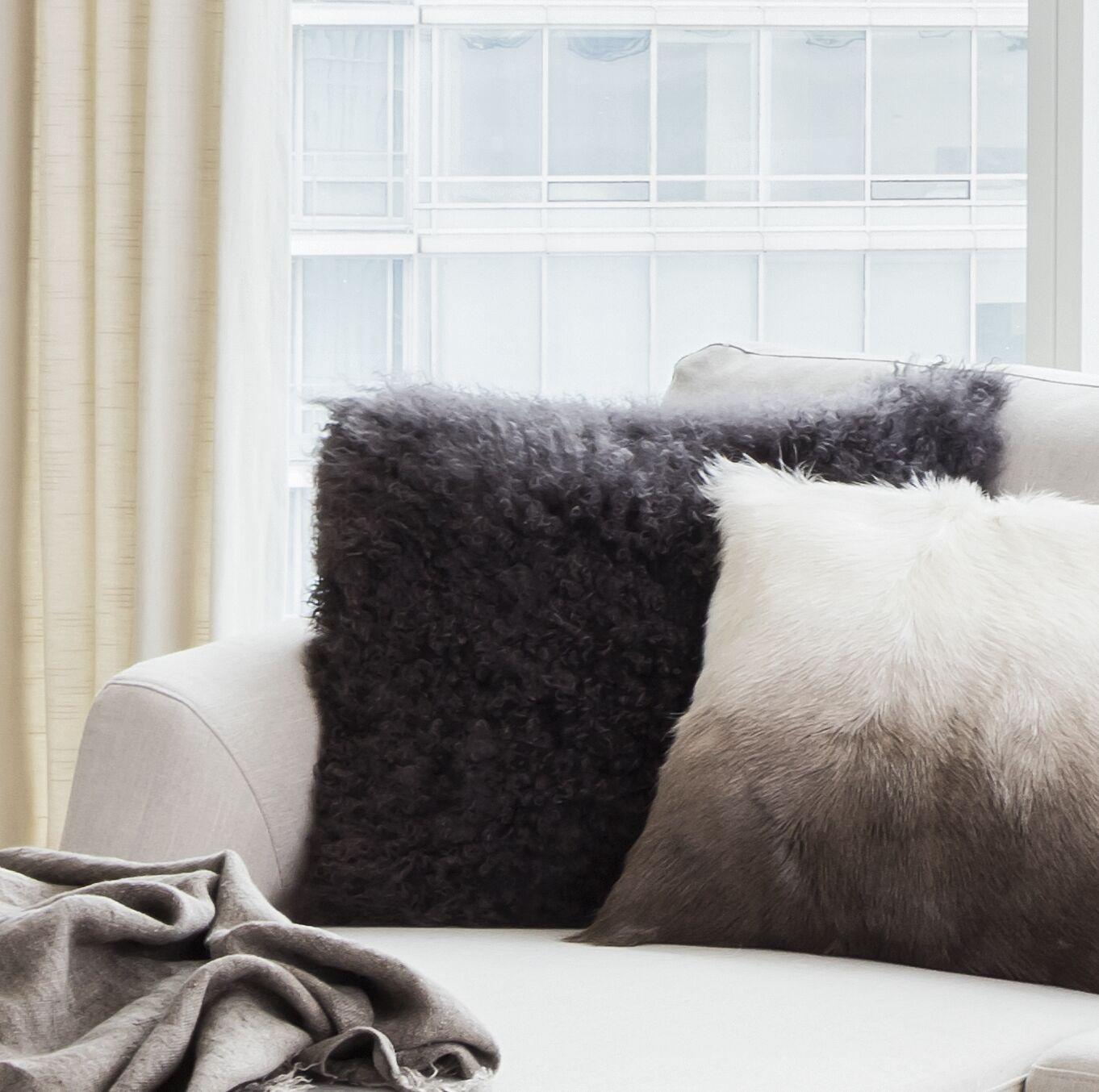 Reiser Polyester Throw Pillow Color: Light Gray