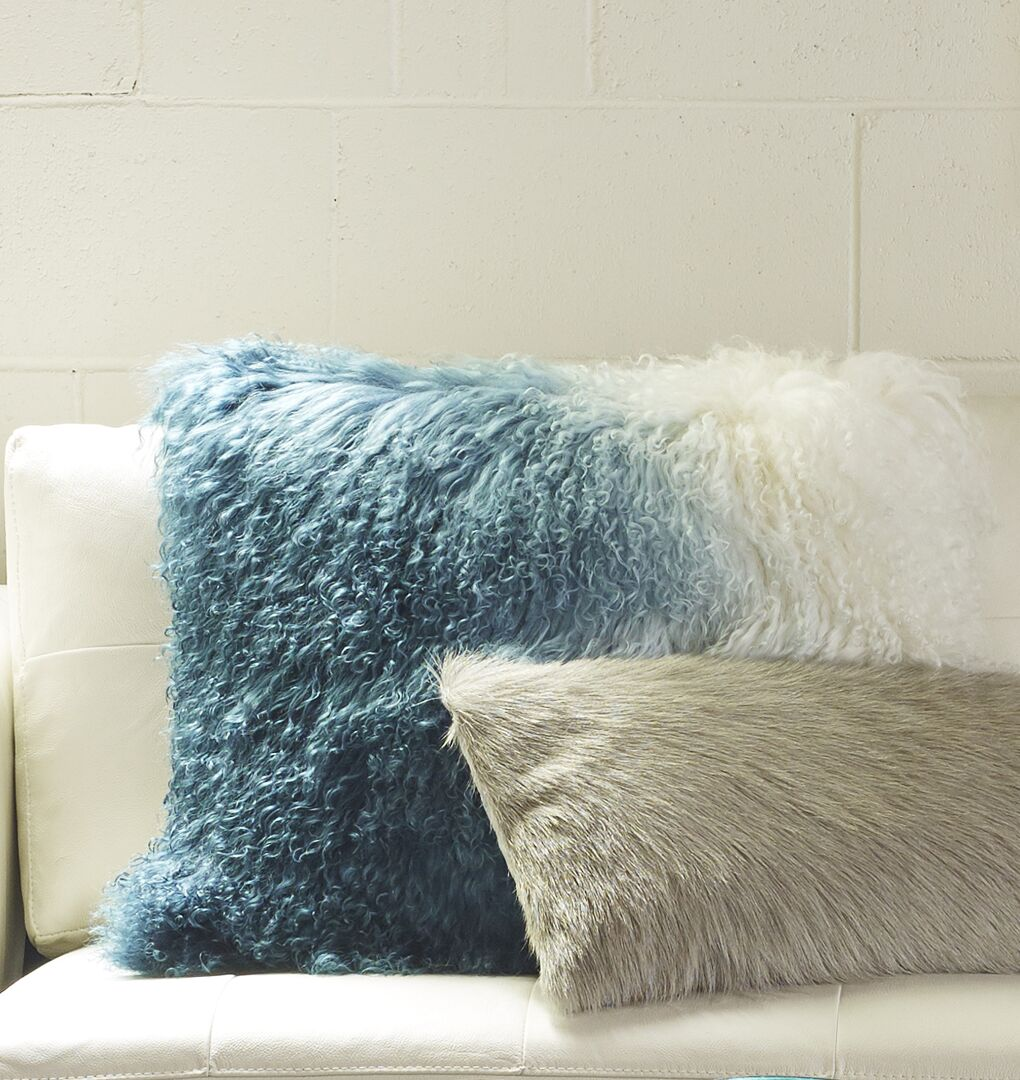 Gosling Lamb Throw Pillow Color: Light Blue