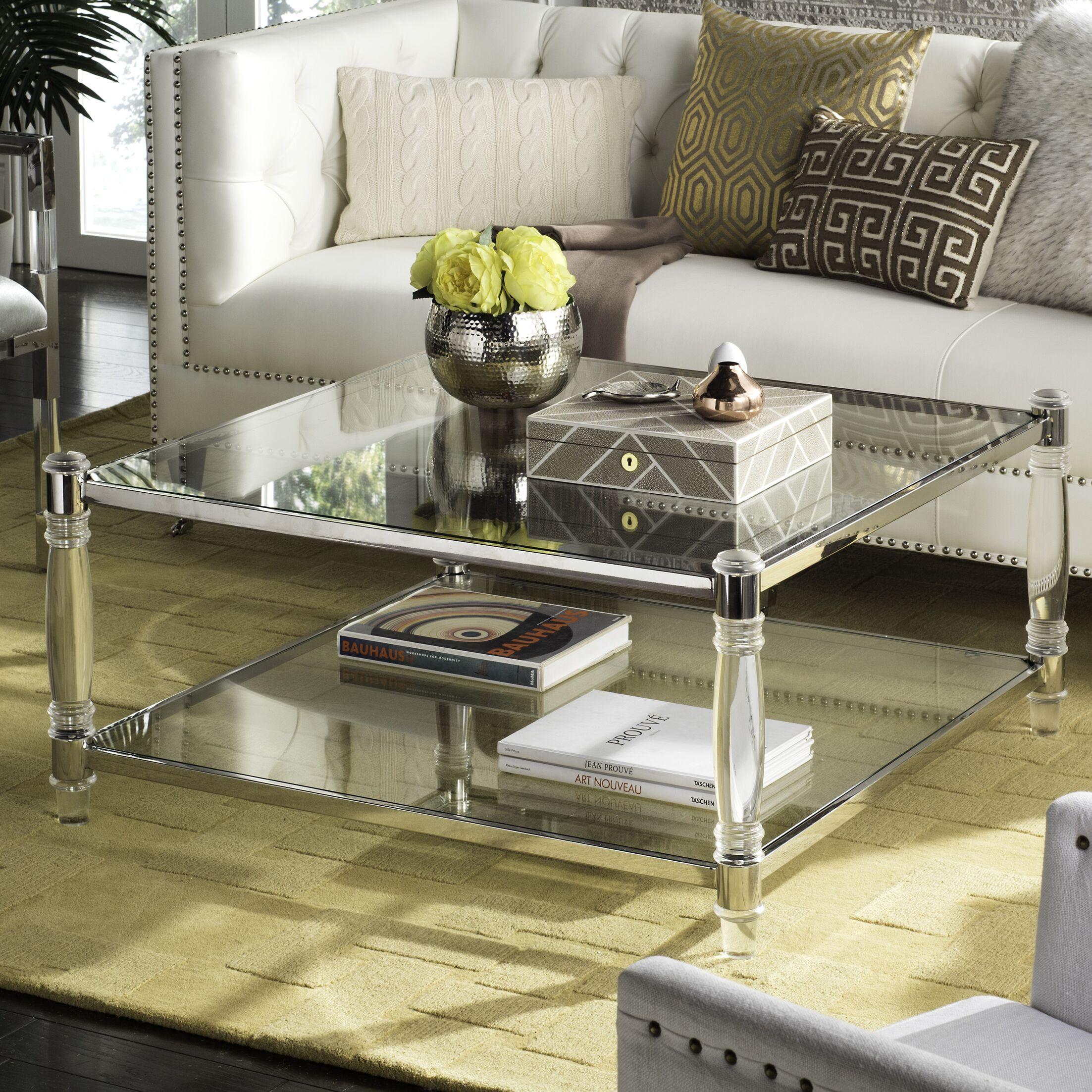 Perkins Coffee Table Color: Silver