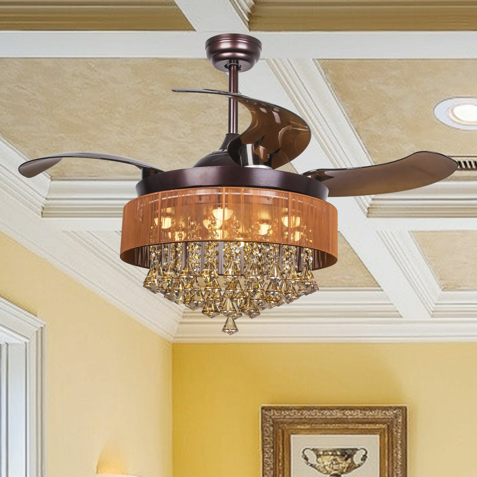 Birchley 4 Blade LED Ceiling Fan with Remote Finish: Oil Rubbed Bronze