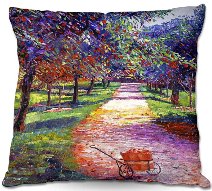 Garden Throw Pillow Size: 16