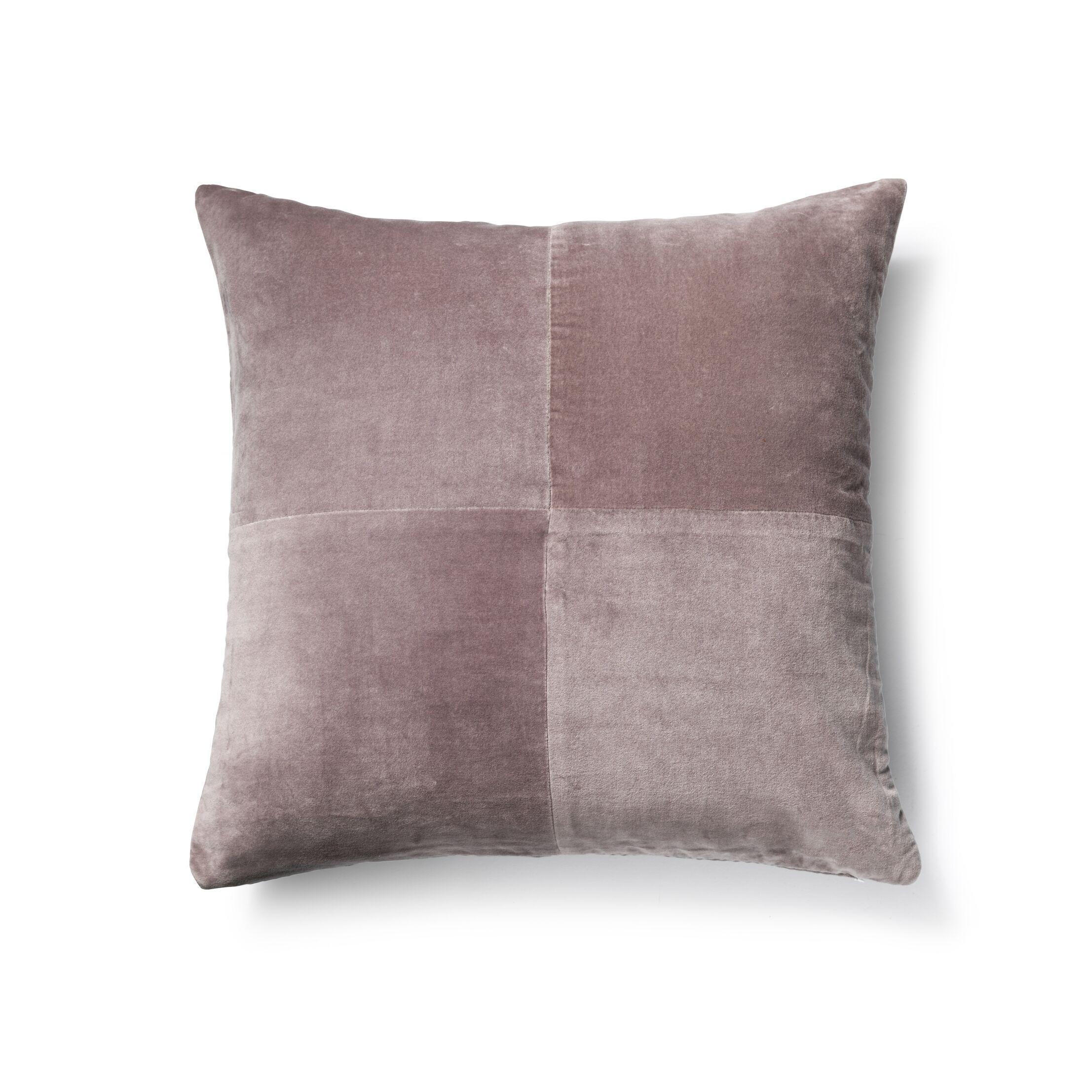 Cotton Velvet Throw Pillow Color: Gray