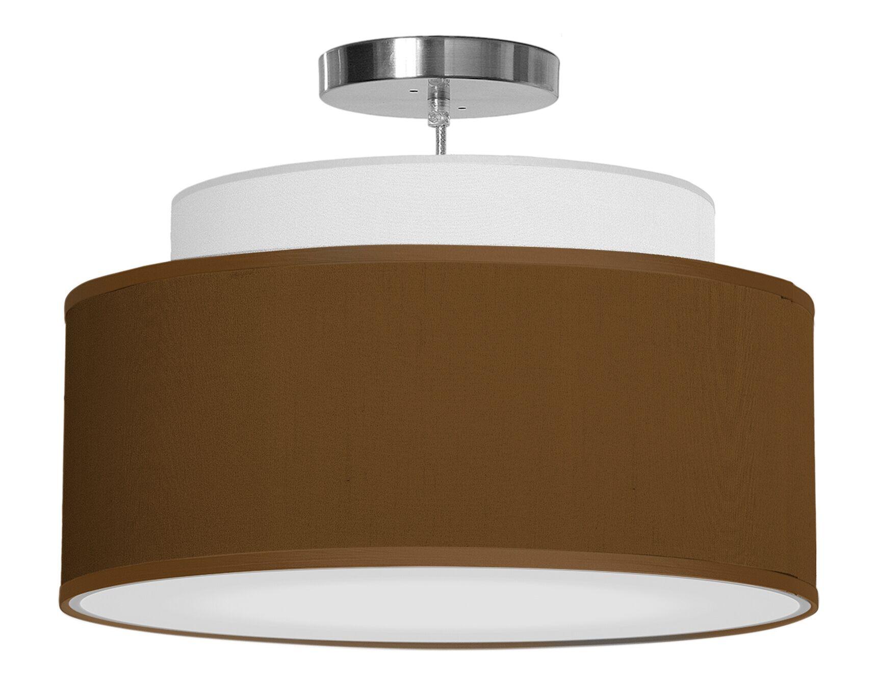 Abba 1-Light Pendant Shade Color: Antique Copper, Size: 12