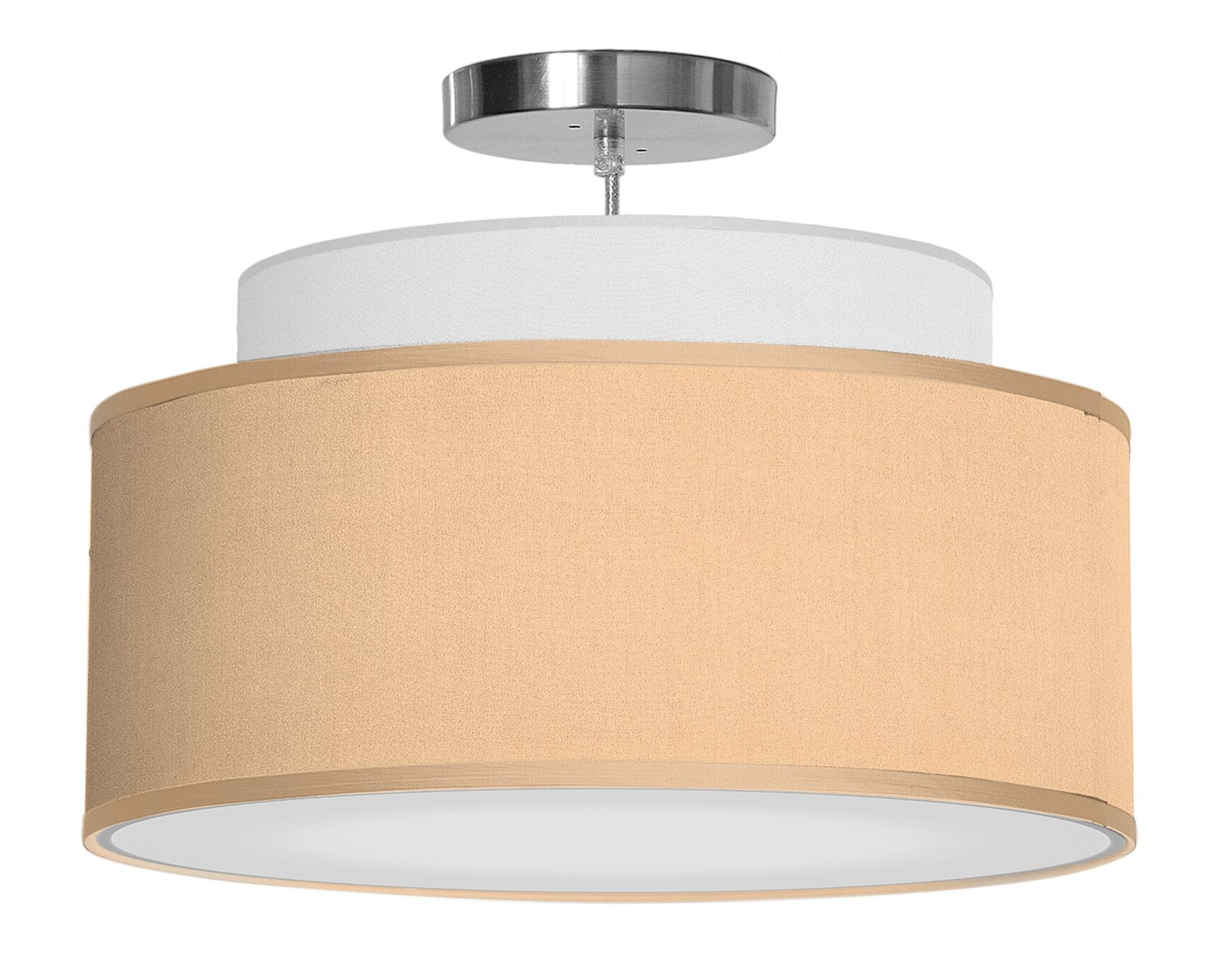 Abba 1-Light Pendant Shade Color: Champagne, Size: 12