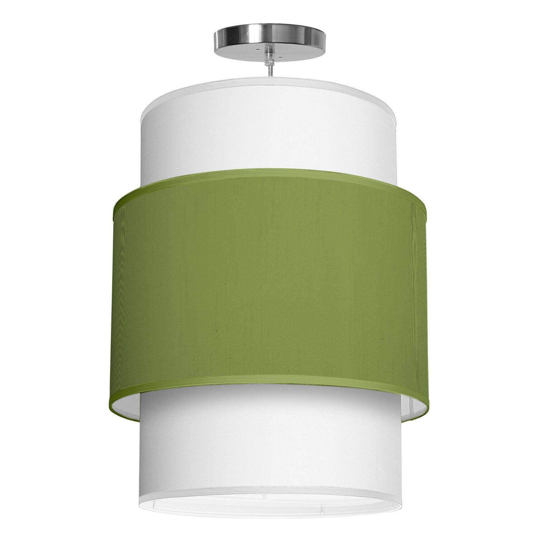 Evan 1-Light Pendant Shade Color: Verde, Size: 30