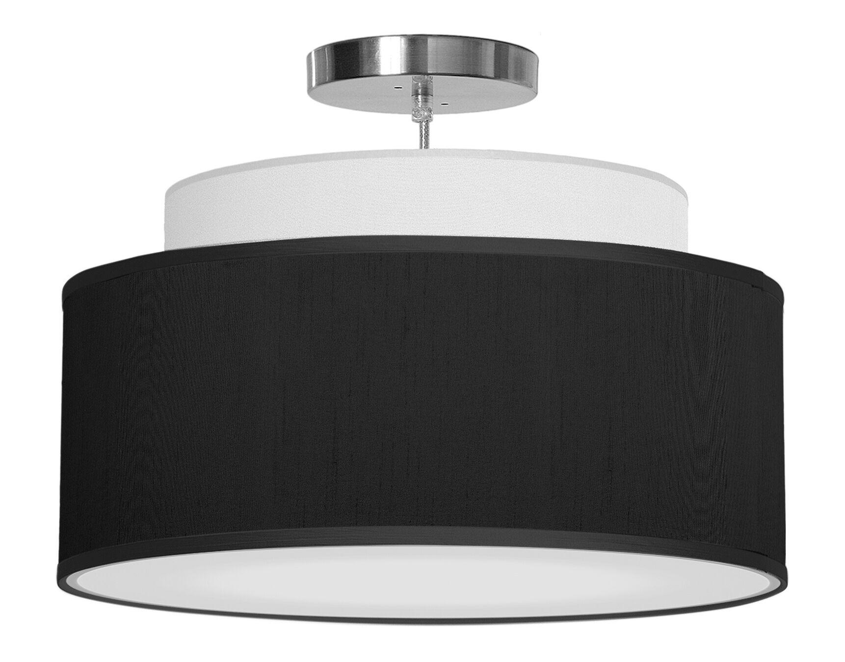 Abba 1-Light Pendant Shade Color: Ebony, Size: 12
