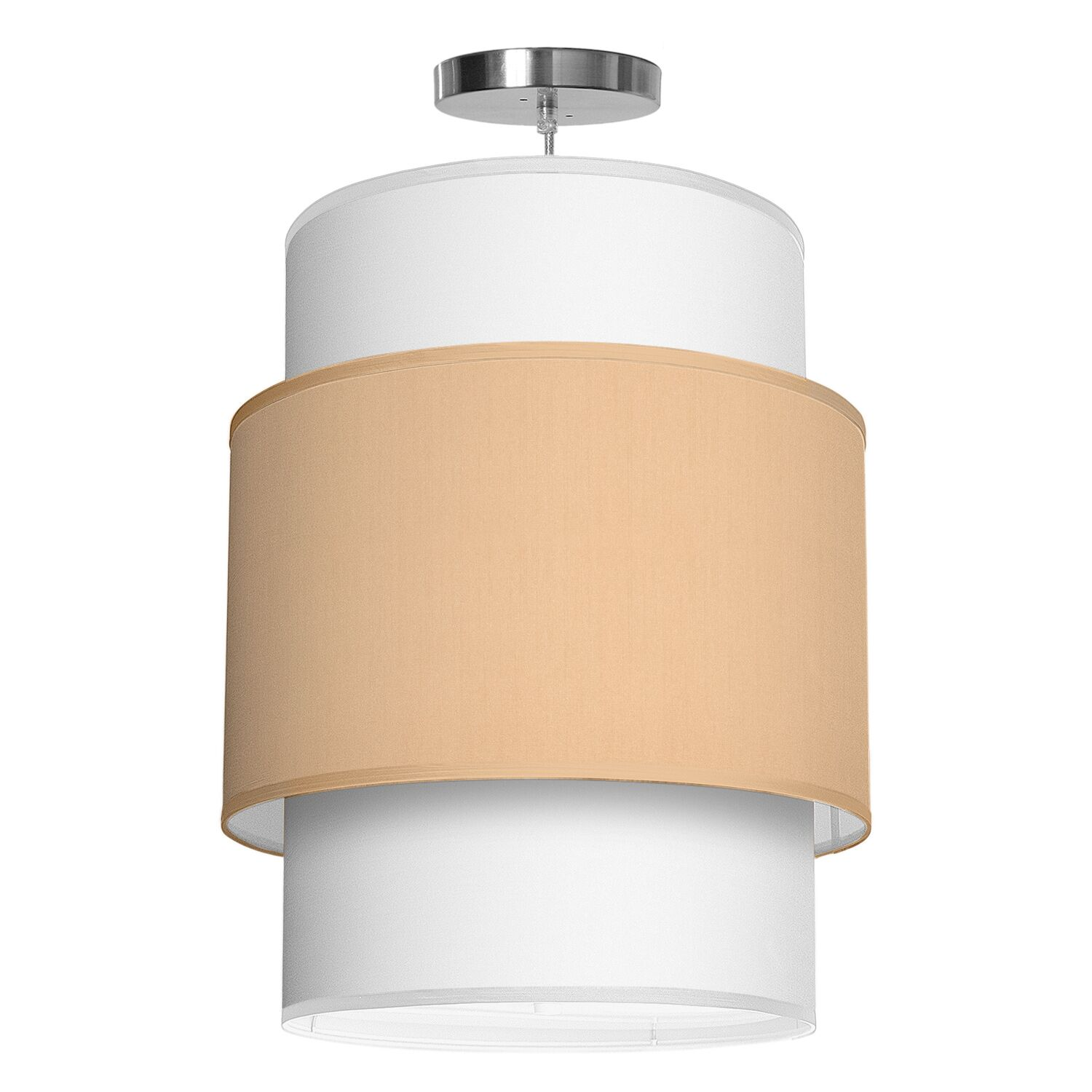 Evan 1-Light Pendant Shade Color: Champagne, Size: 36