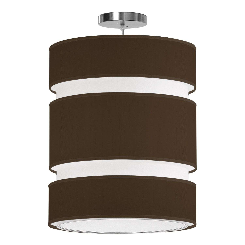 Lena 2-Light Pendant Shade Color: Chocolate, Size: 20
