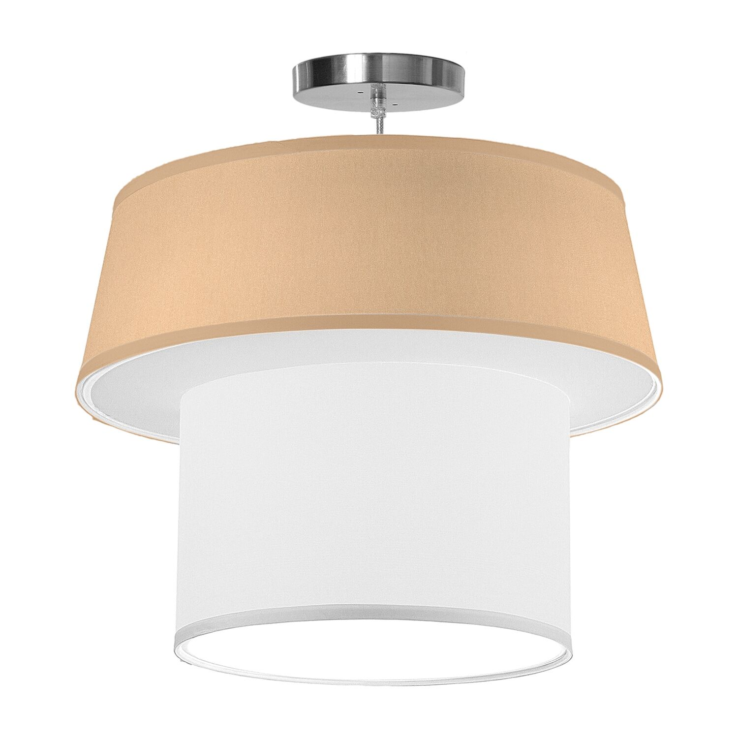 Clive 1-Light Pendant Shade Color: Champagne, Size: 22